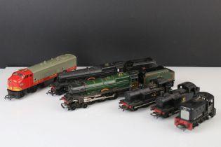 Six Triang OO gauge locomotives to include Princess Elizabeth, Princess Victoria, 2 x 0-6-0 etc,