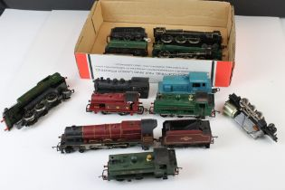 Ten OO gauge locomotives to include Triang R50 The Princess Royal, Mainline Scots Guardsmen,