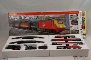 Boxed Hornby OO gauge R1023 Virgin Trains 125 train set, complete, some box wear