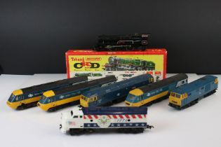 Six Hornby OO gauge InterCity 125 locomotives plus a American 1776 (Hong Kong) and a boxed Triang