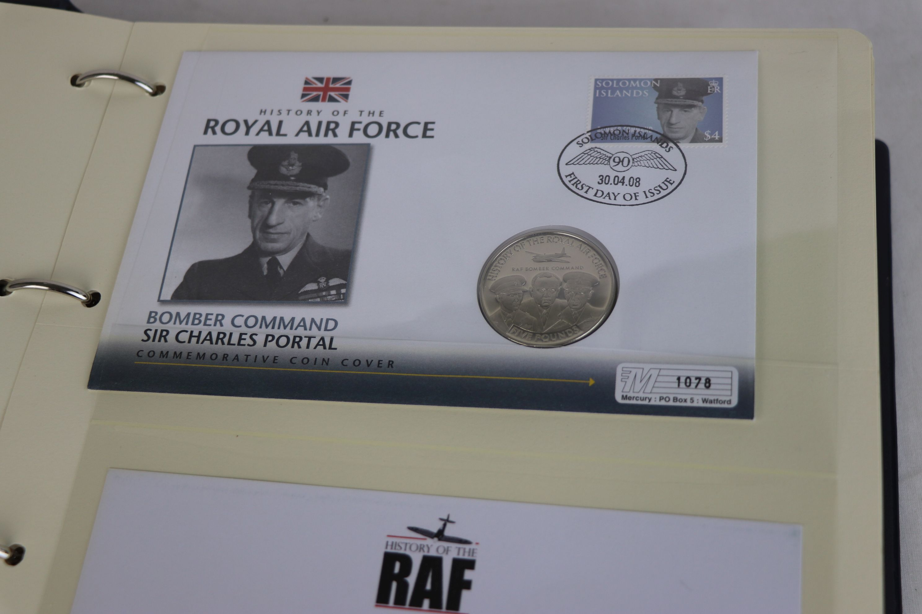 A limited edition Westminster Mint History of the Royal Air Force coin and stamp cover collection to - Image 6 of 16