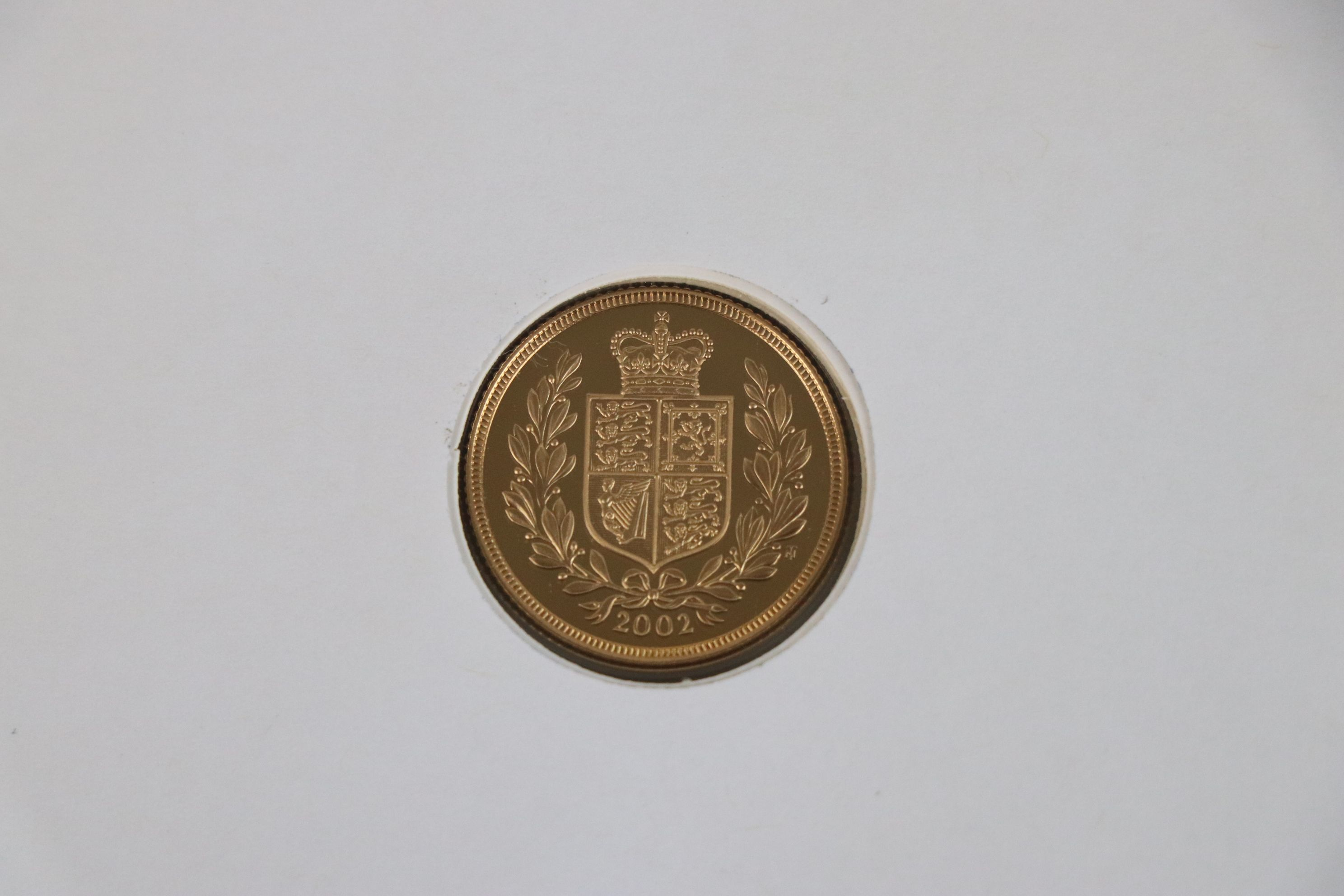 A 2002 Great Britain gold proof Sovereign coin cover. - Image 4 of 4