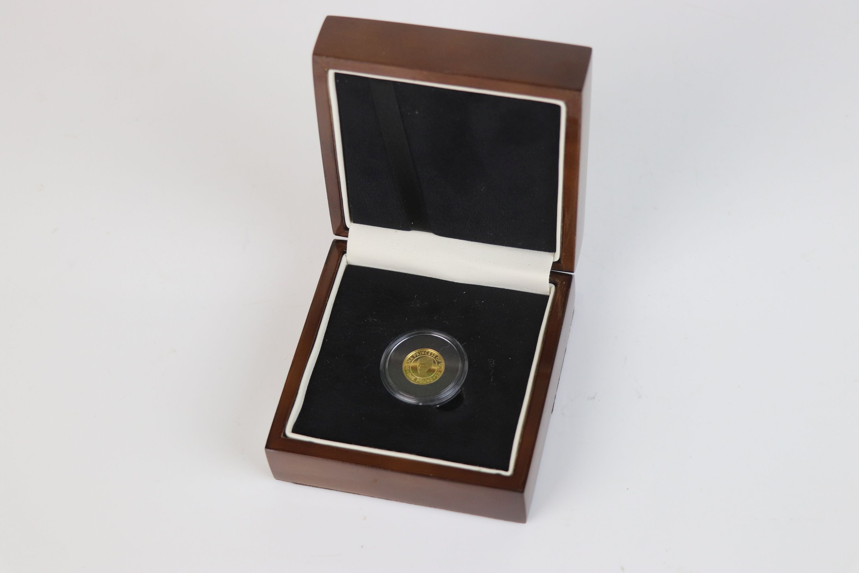 A Queen Elizabeth II Bailiwick of Jersey Diana Princess of Wales Commemorative £1 gold coin dated