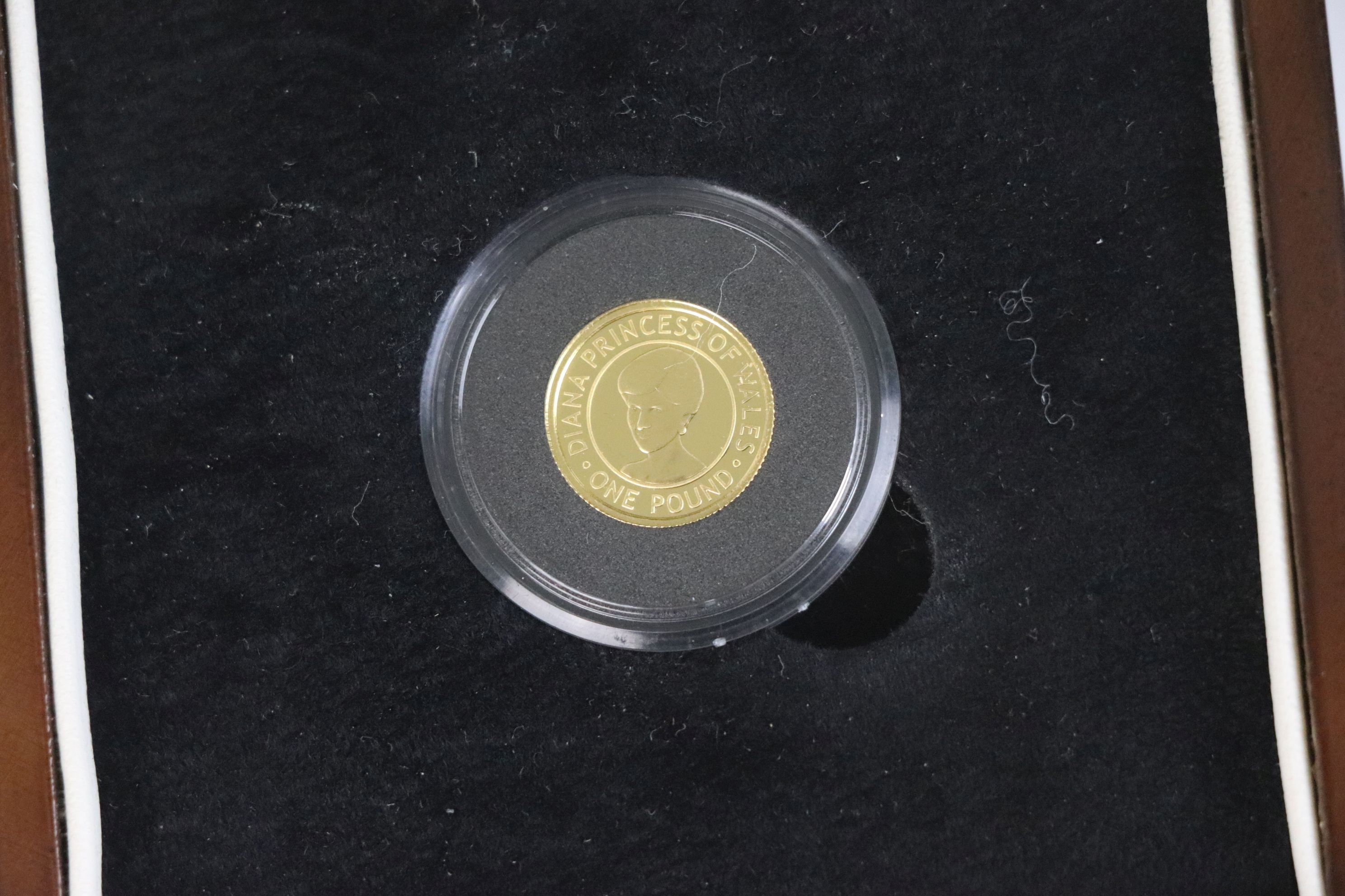 A Queen Elizabeth II Bailiwick of Jersey Diana Princess of Wales Commemorative £1 gold coin dated - Image 3 of 4