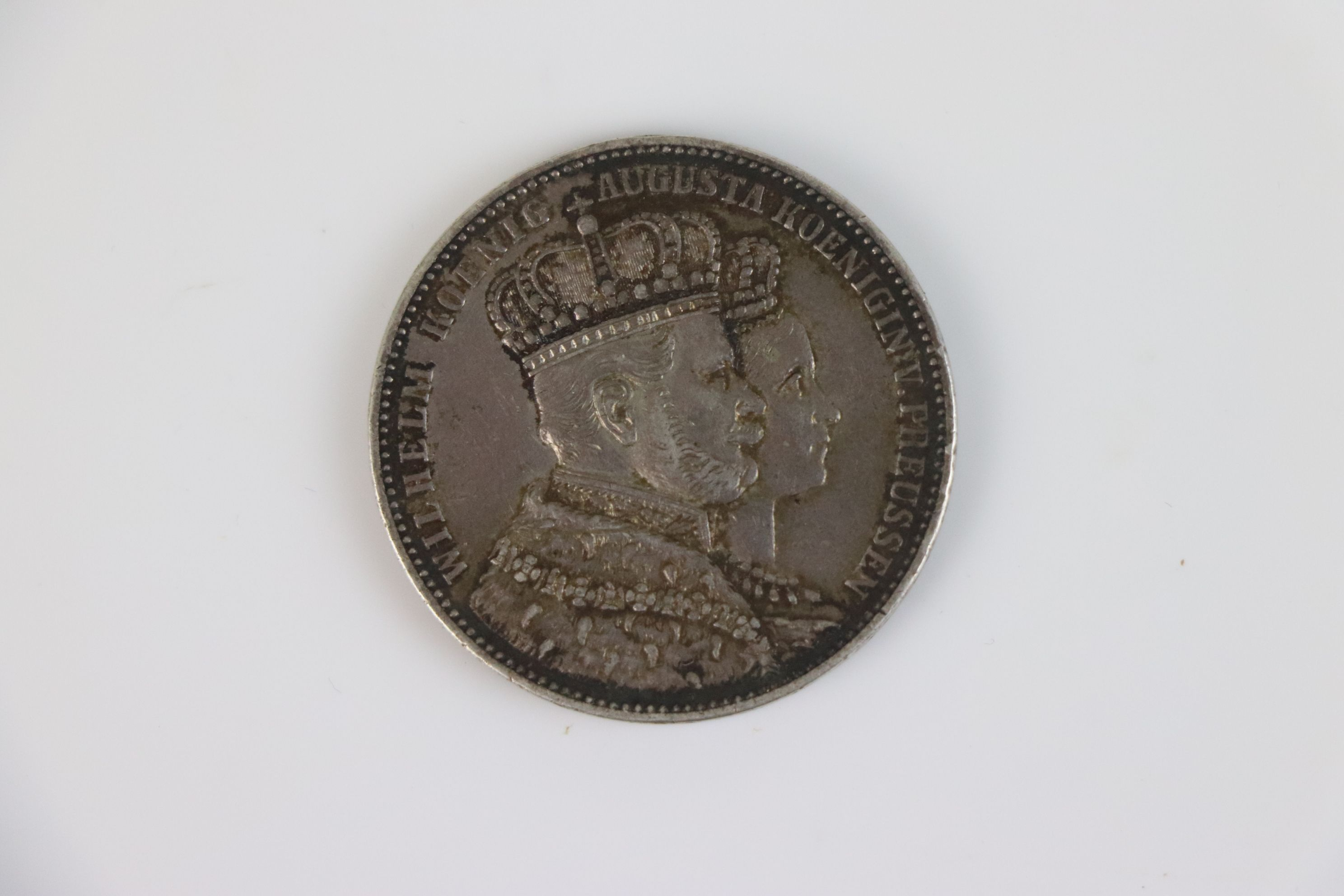 Prussian Silver Thaler coin 1861 - Image 3 of 3