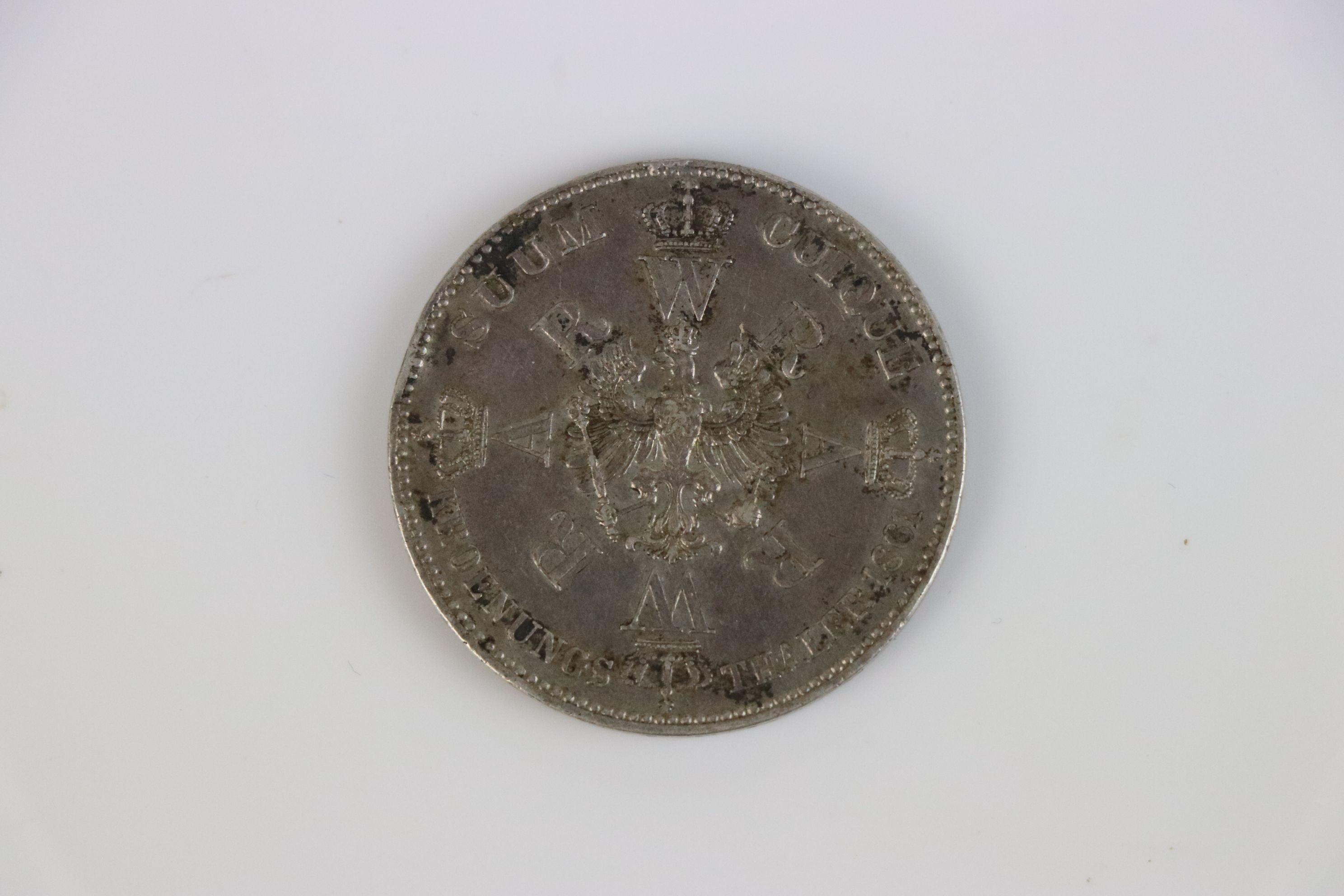 Prussian Silver Thaler coin 1861