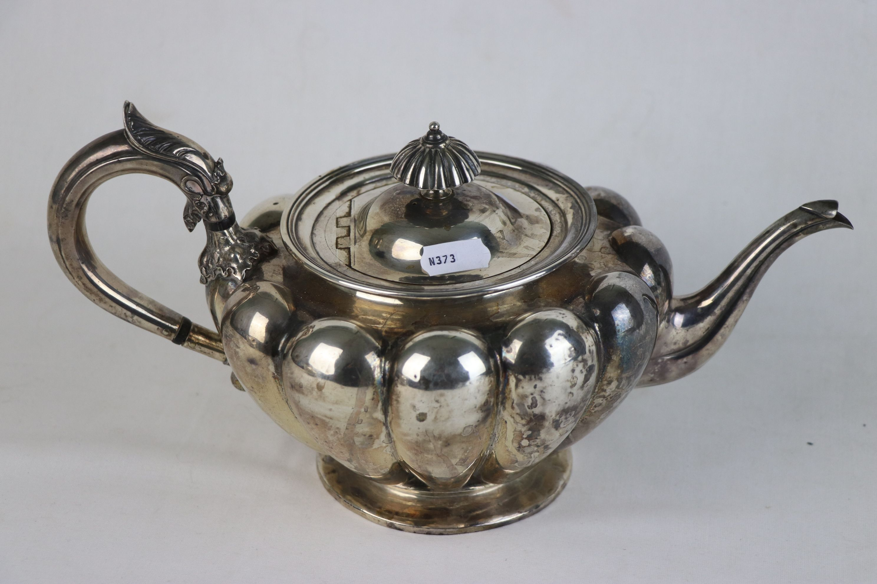 A fully hallmarked Victorian sterling silver Tea pot, maker marked for John Tapley, assayed in - Image 2 of 8