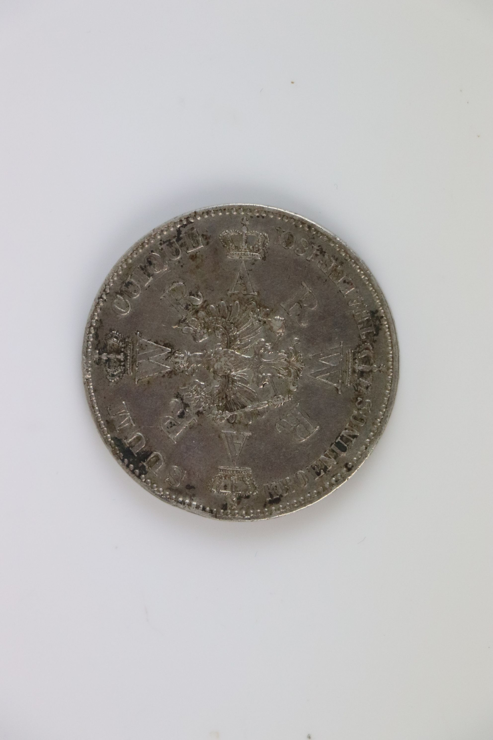 Prussian Silver Thaler coin 1861 - Image 2 of 3