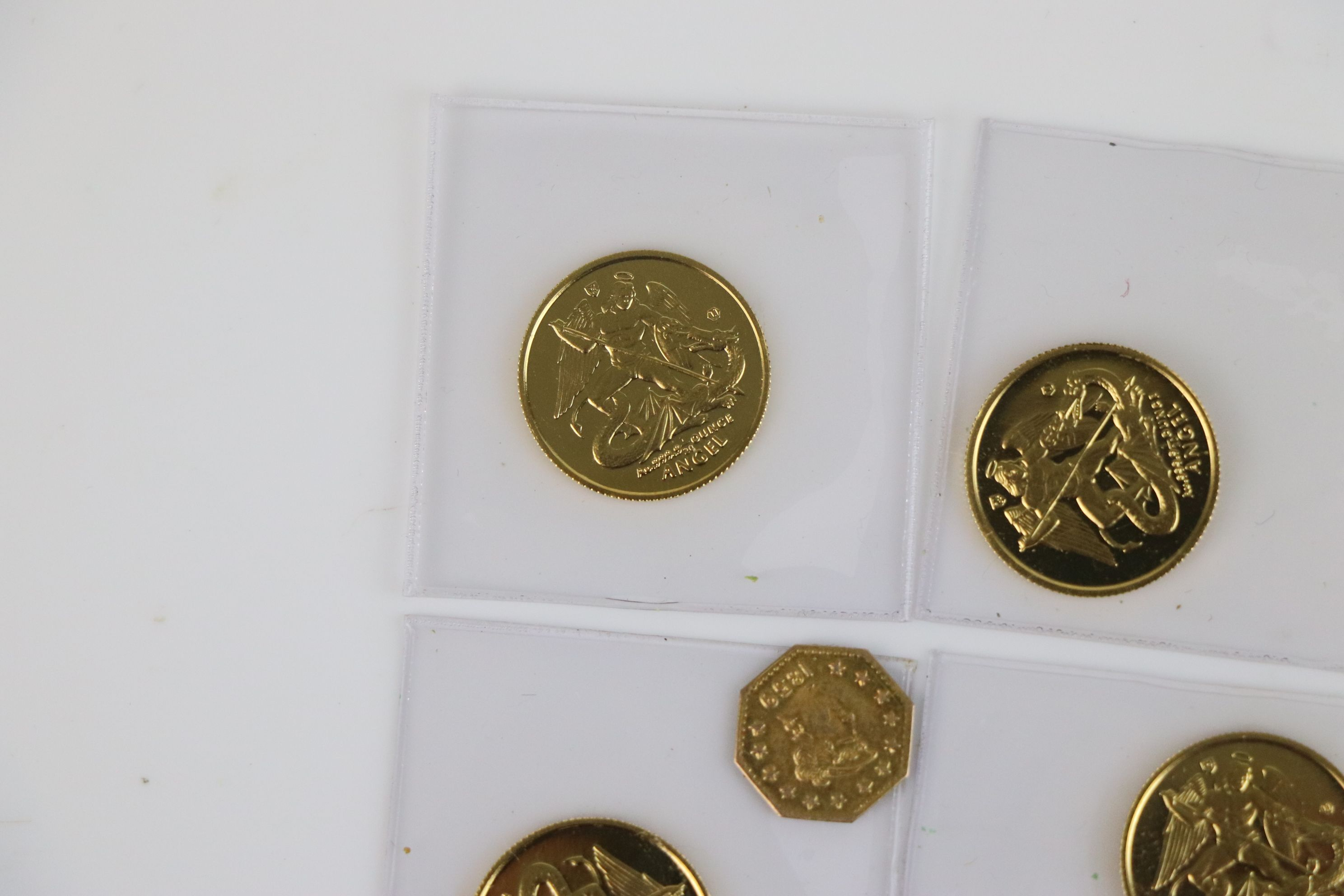 A small collection of British gold coins to include California gold rush 1/4 dollar and an Isle of - Image 2 of 6
