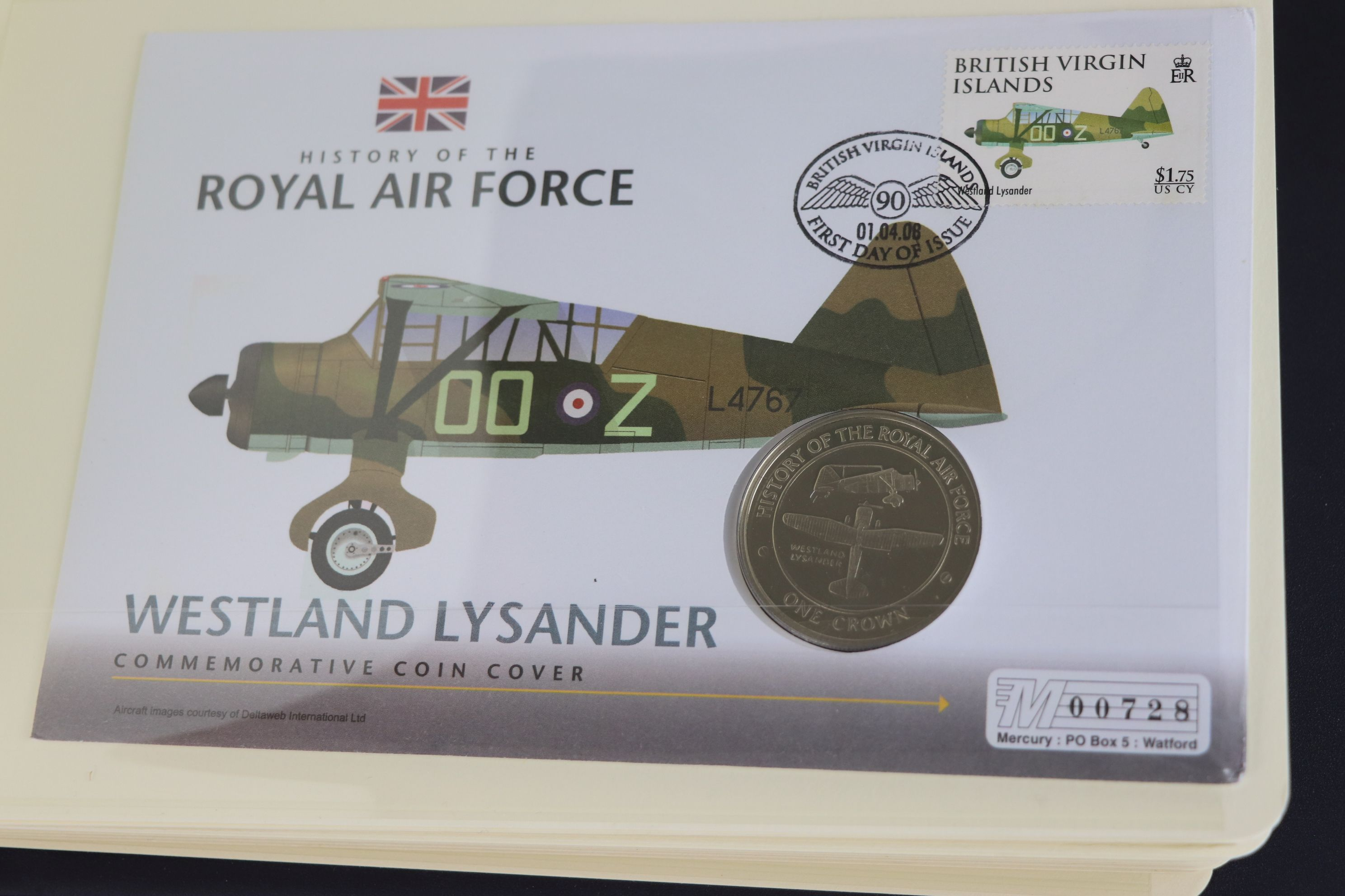 A limited edition Westminster Mint History of the Royal Air Force coin and stamp cover collection to - Image 16 of 16