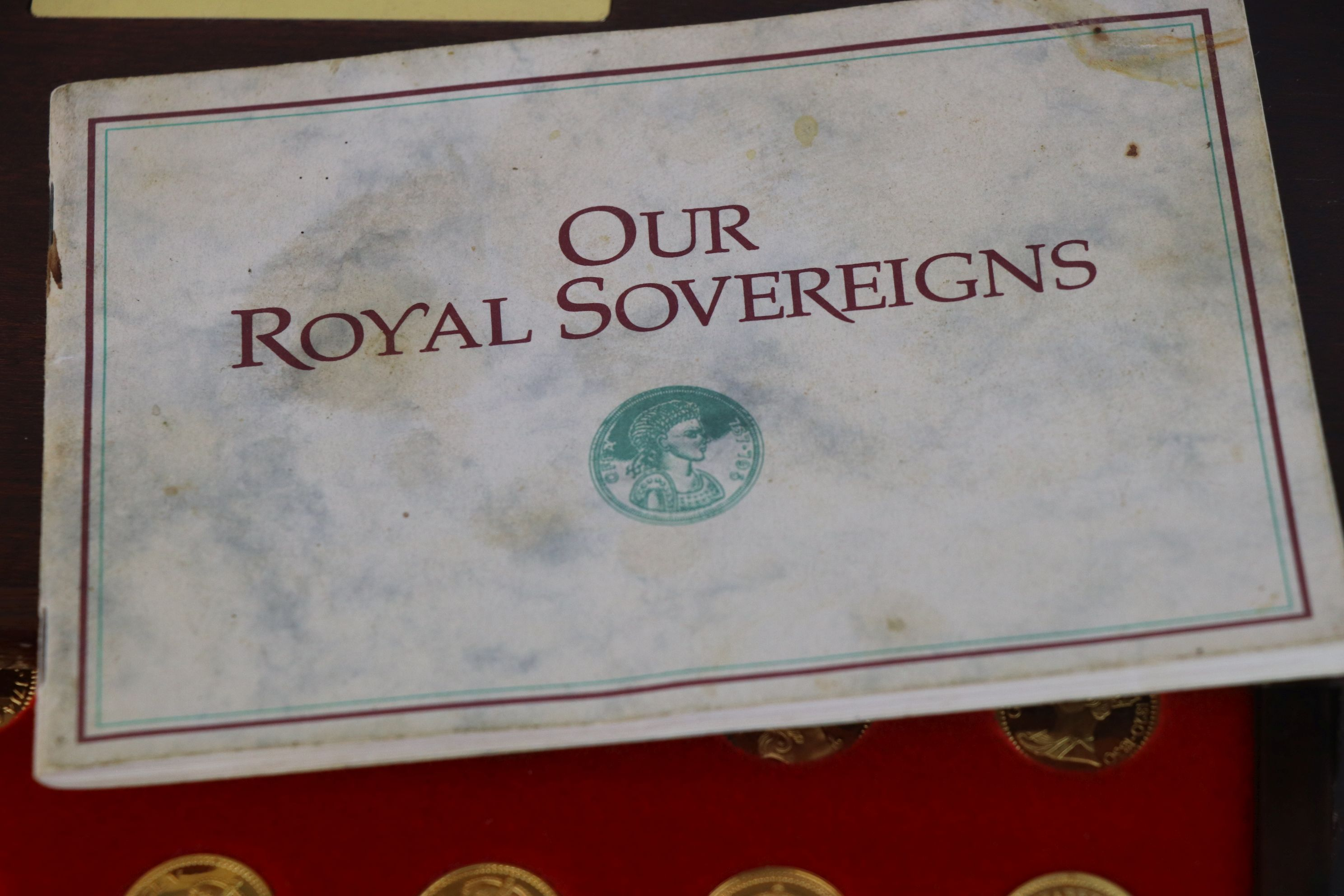 """A """"Our Royal Sovereigns"""" collection of seventy medals portraying the complete line of monarchs - Image 3 of 6"""