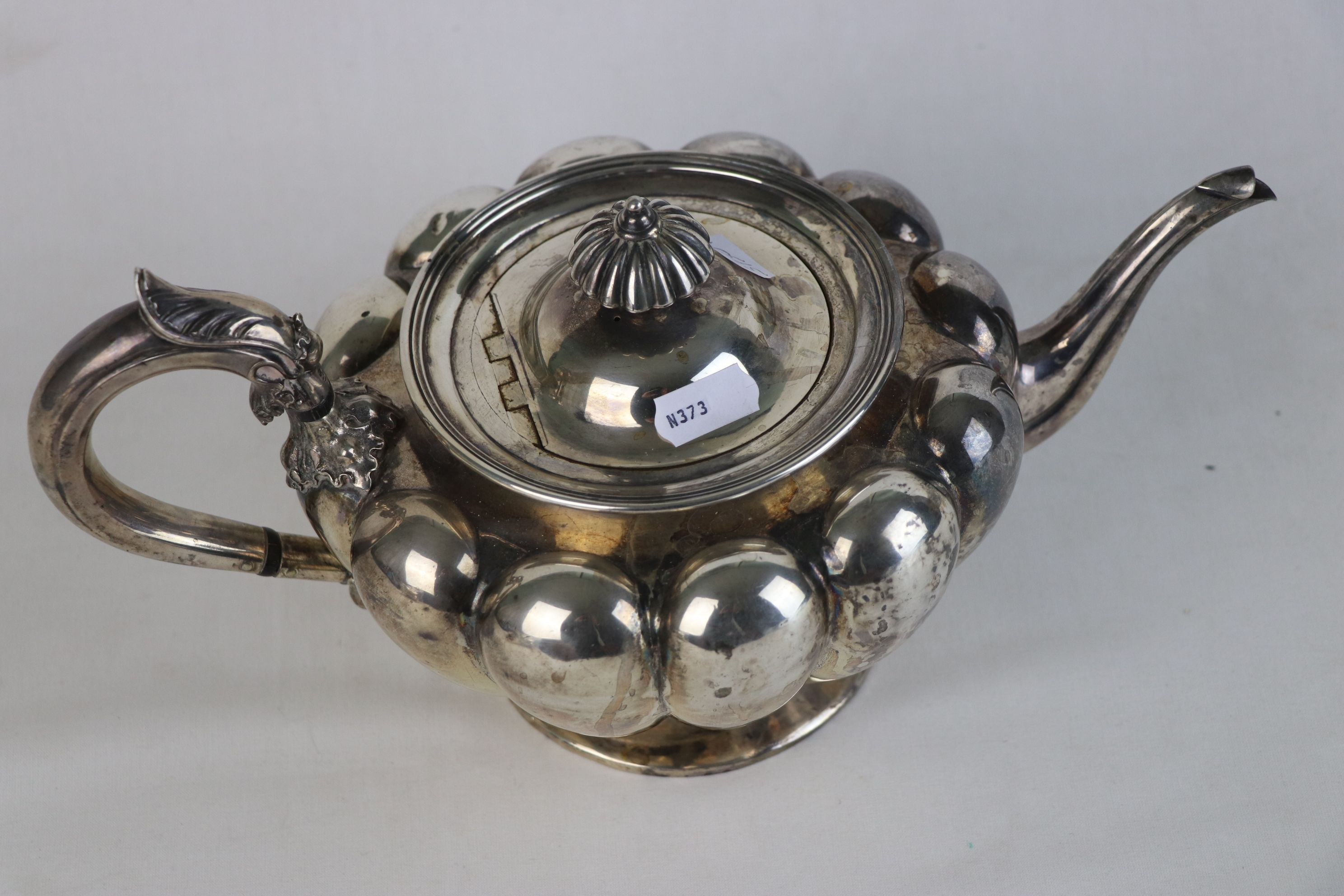 A fully hallmarked Victorian sterling silver Tea pot, maker marked for John Tapley, assayed in - Image 3 of 8