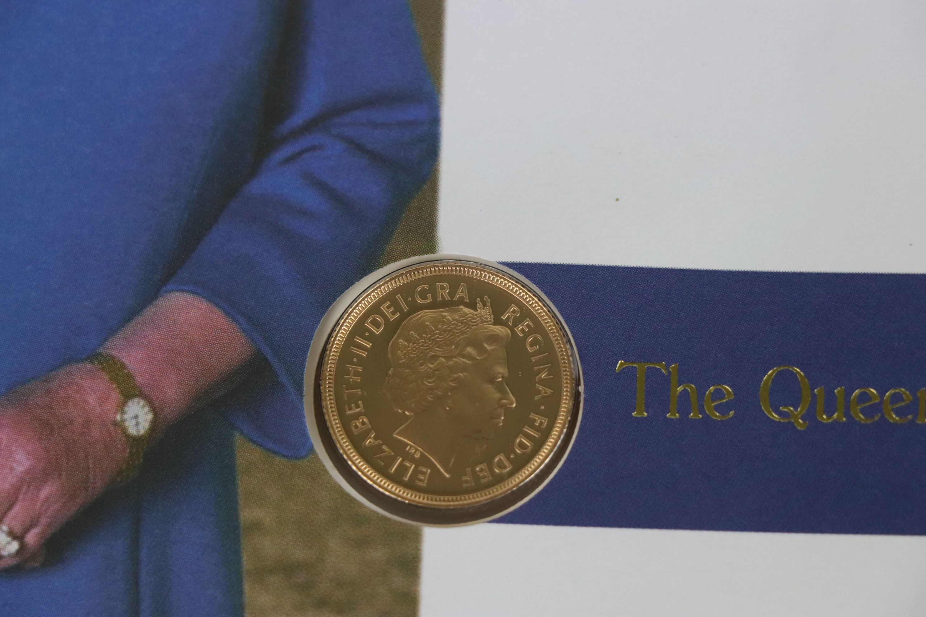 A 2002 Great Britain gold proof Sovereign coin cover. - Image 3 of 4