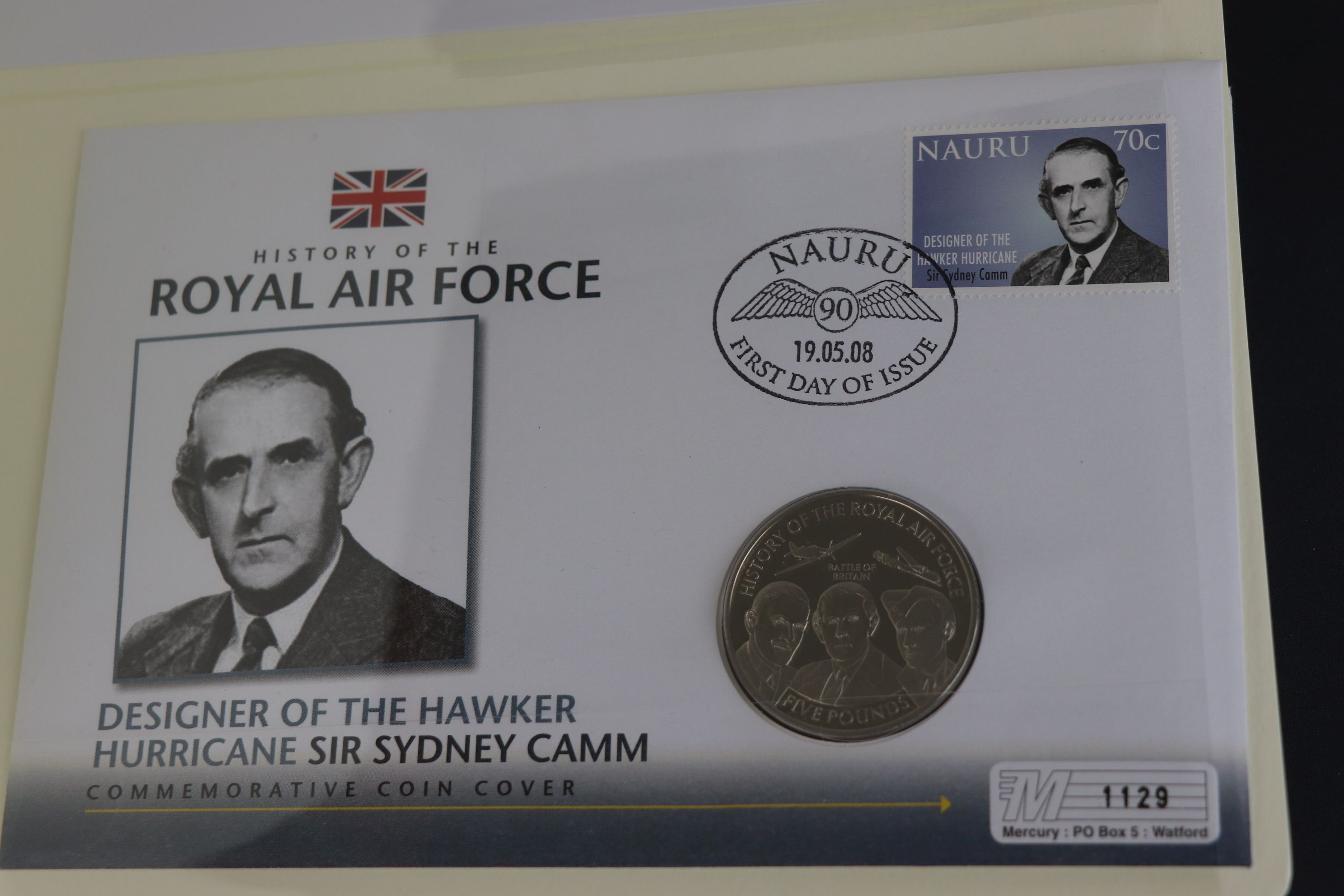 A limited edition Westminster Mint History of the Royal Air Force coin and stamp cover collection to - Image 15 of 16