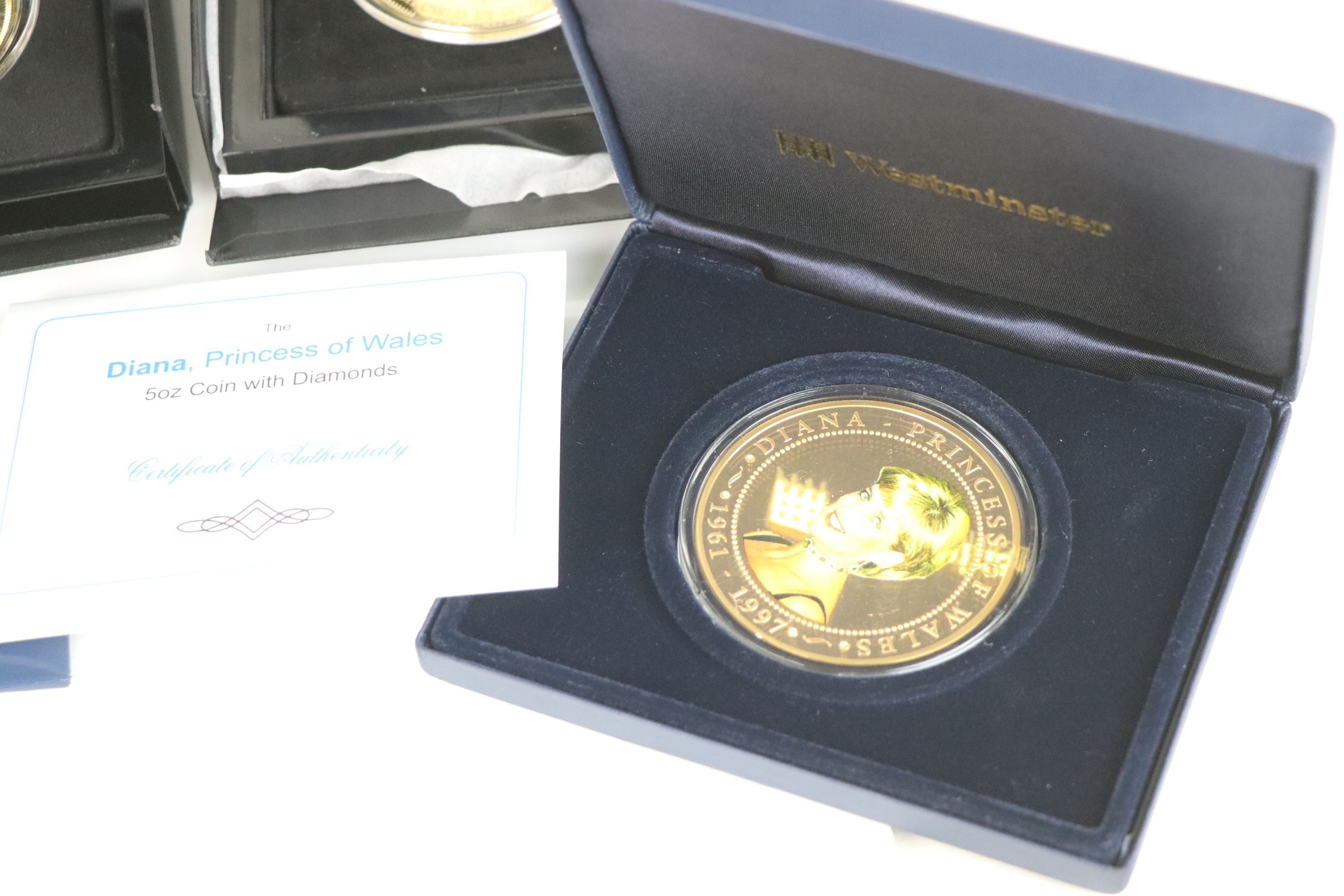A collection of commemorative coins and medallions to include Battle of Britain Five crown coin, - Image 6 of 7