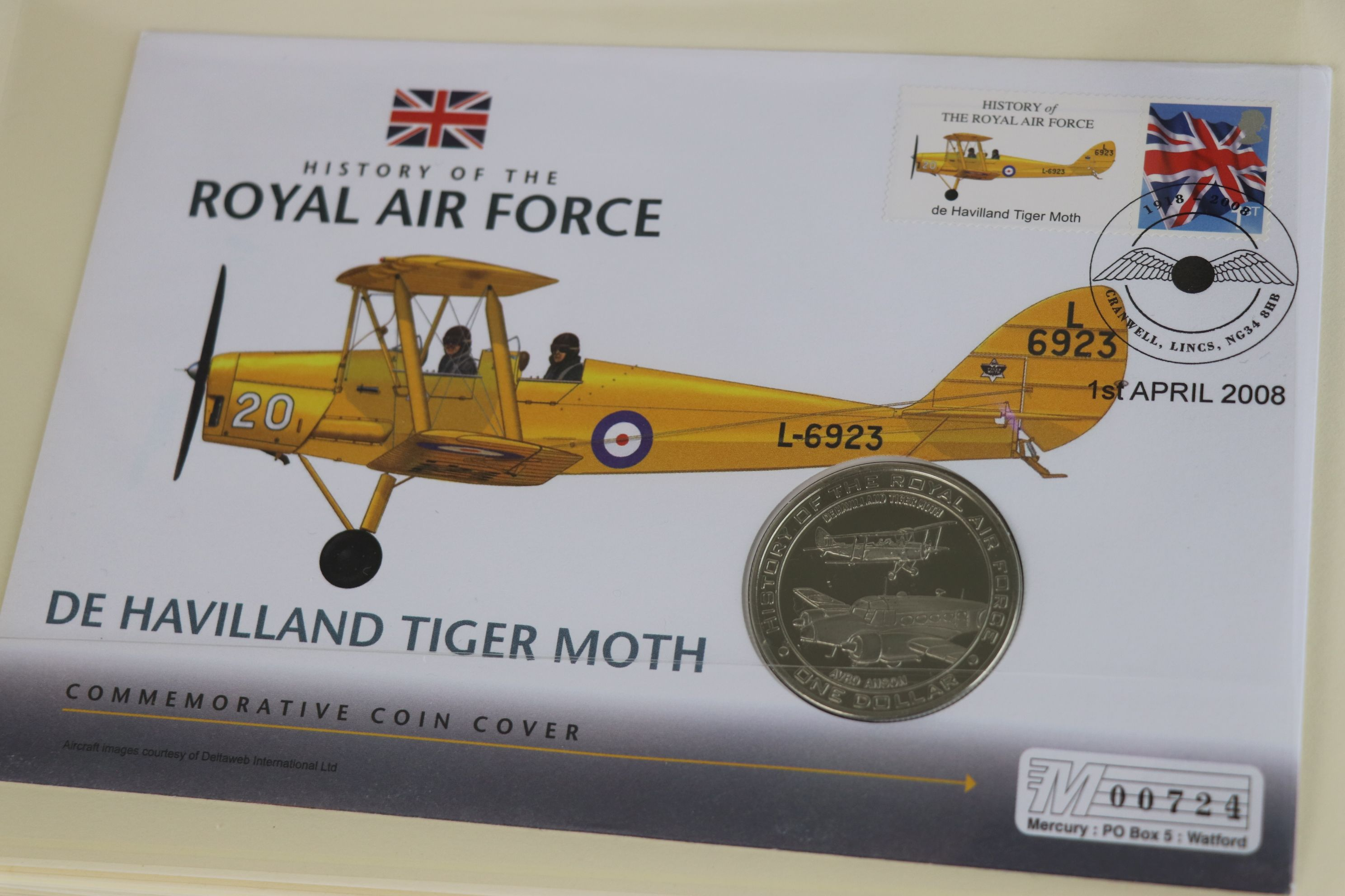 A limited edition Westminster Mint History of the Royal Air Force coin and stamp cover collection to - Image 11 of 16