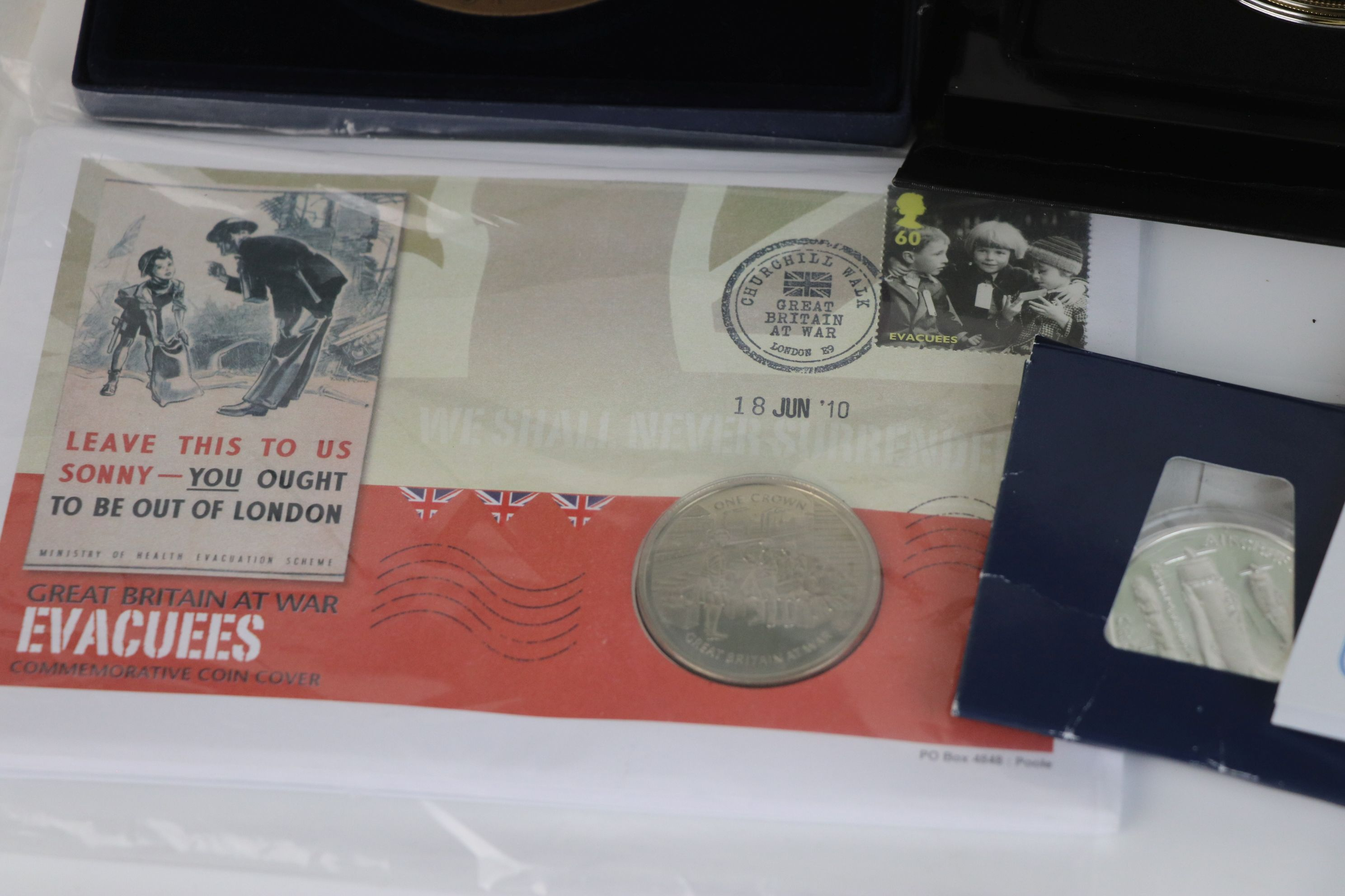 A collection of commemorative coins and medallions to include Battle of Britain Five crown coin, - Image 7 of 7