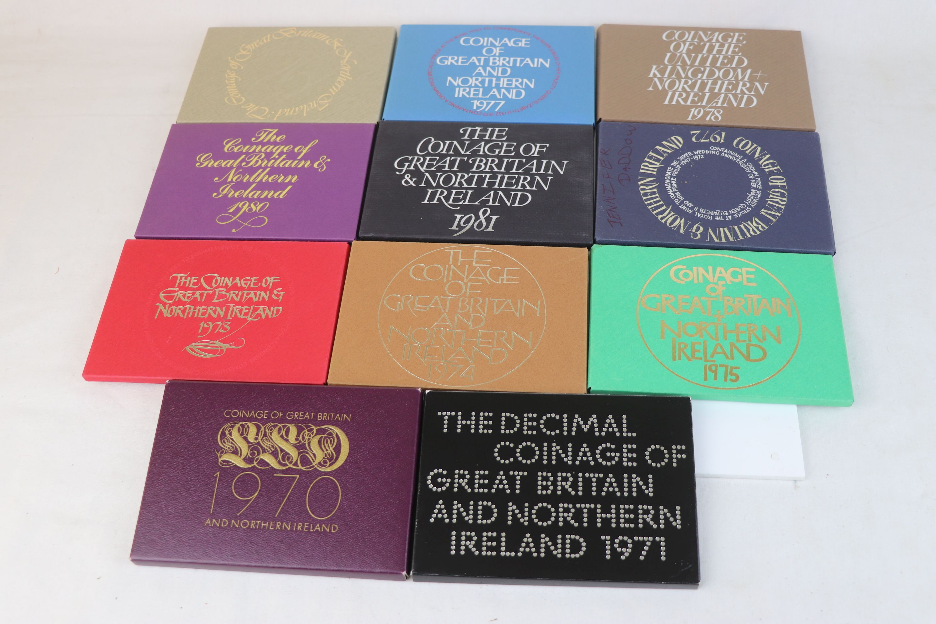 A collection of eleven Royal Mint coinage of Great Britain and Northern Ireland year sets to include - Image 2 of 13