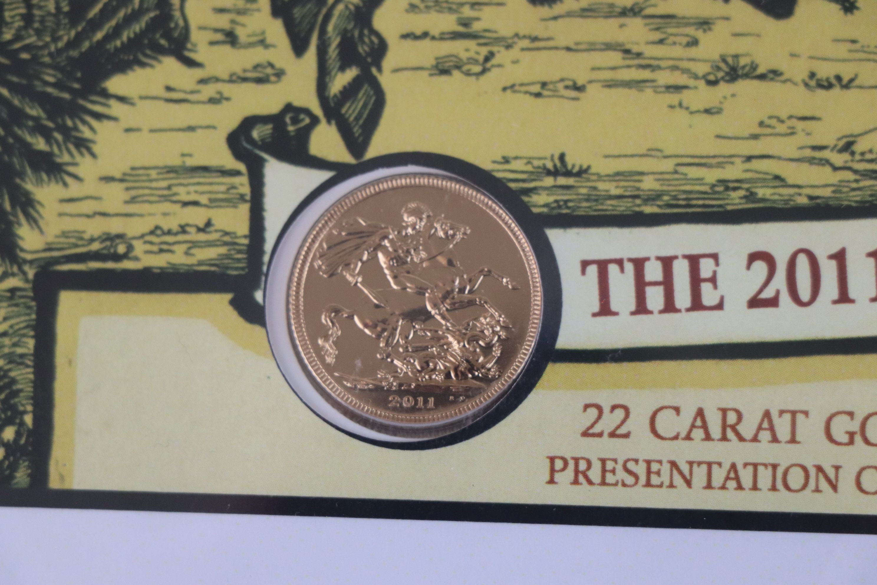 A Westminster Mint limited edition 2011 gold sovereign St. George & The Dragon presentation cover, - Image 4 of 7