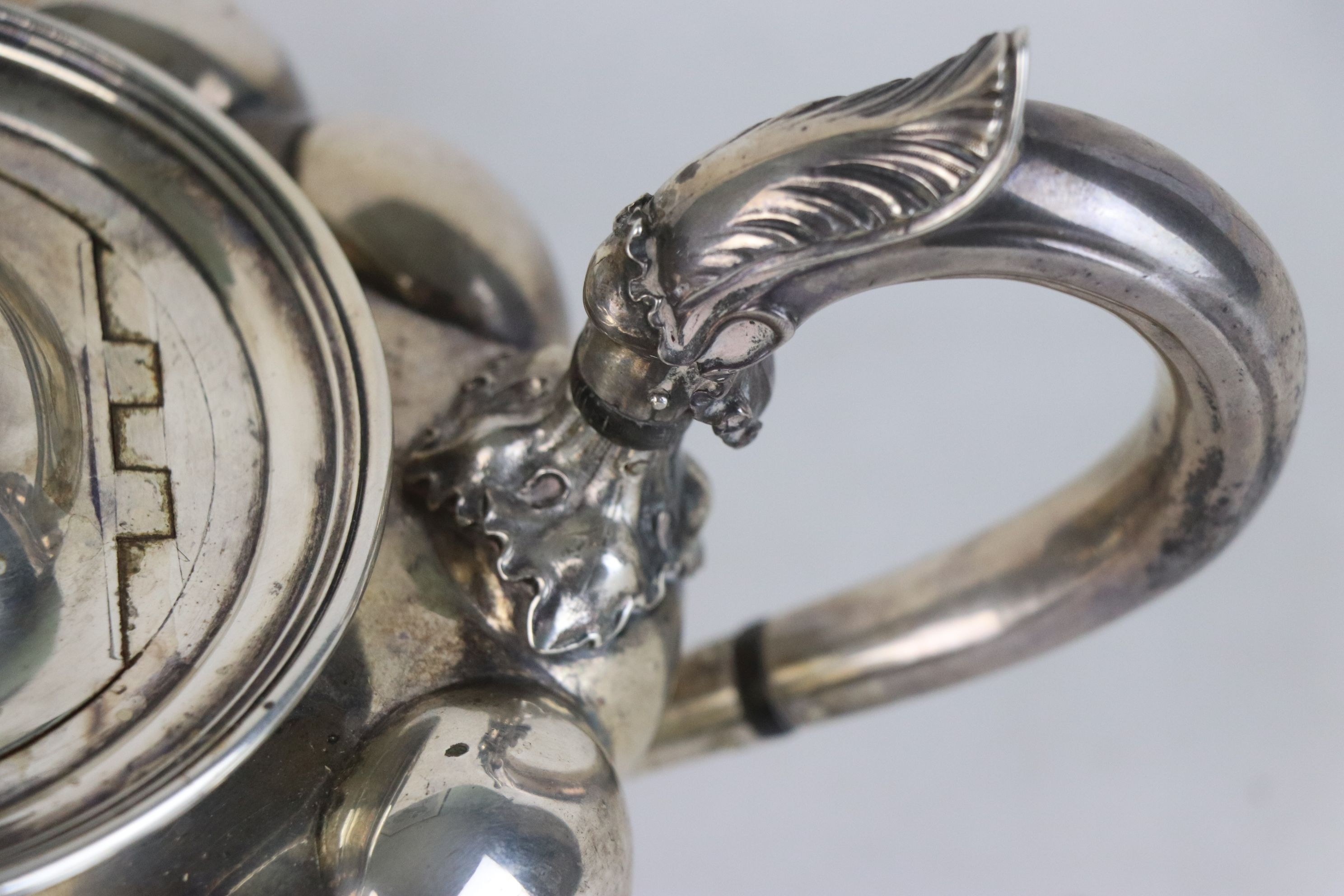 A fully hallmarked Victorian sterling silver Tea pot, maker marked for John Tapley, assayed in - Image 5 of 8