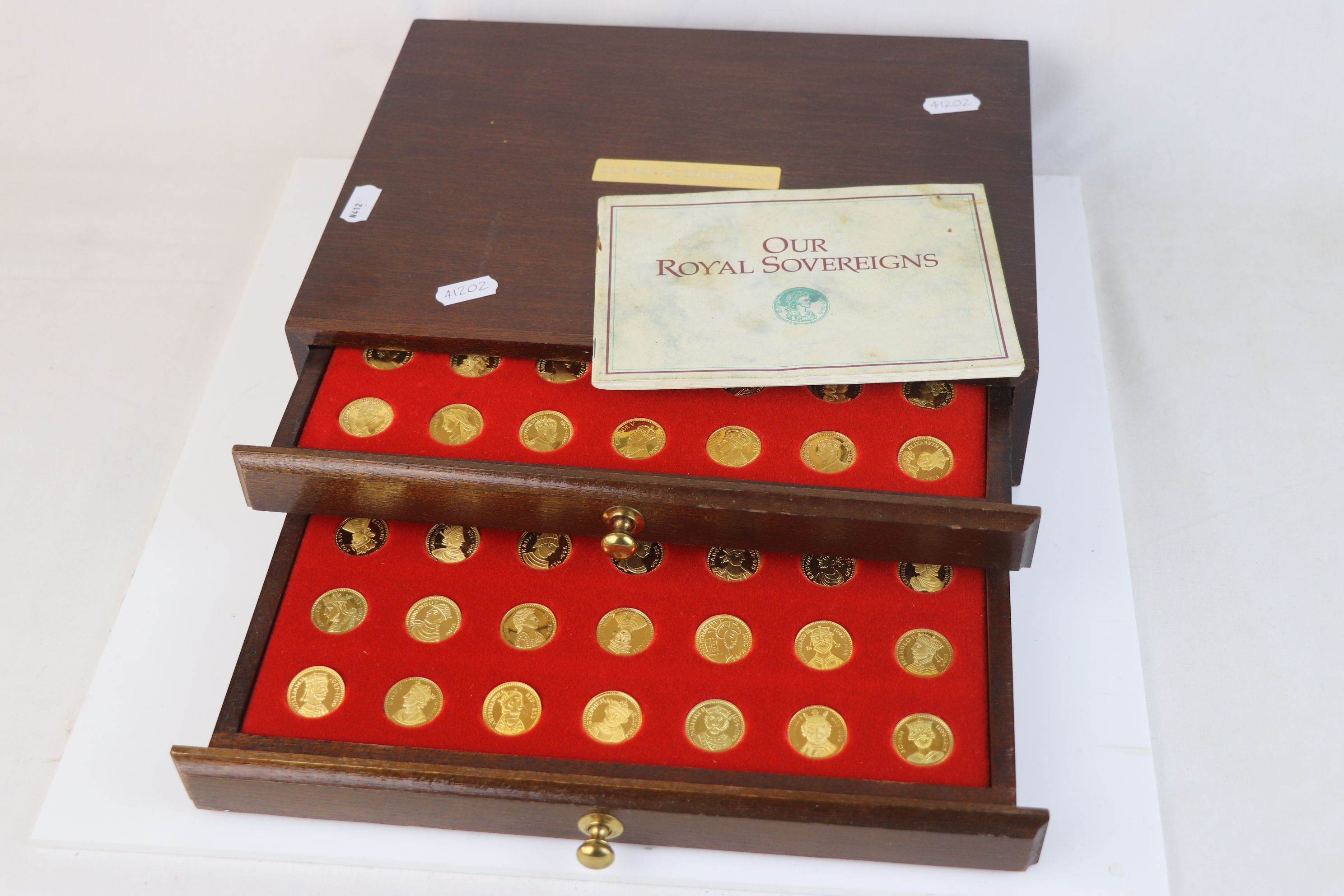 """A """"Our Royal Sovereigns"""" collection of seventy medals portraying the complete line of monarchs"""
