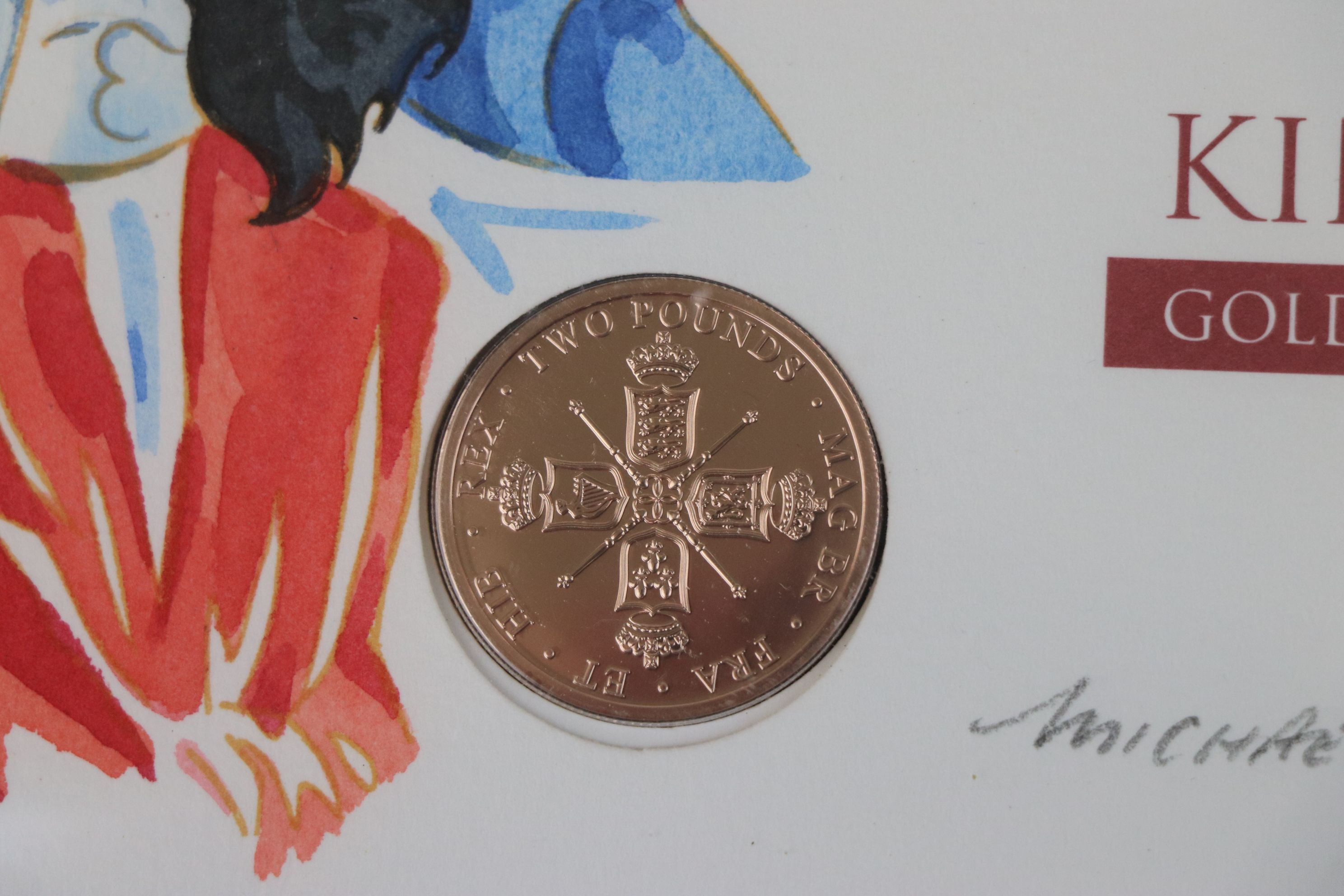 A Westminster Mint limited edition 2010 gold £2 coin King Charles II Revolution of Restoration - Image 3 of 6