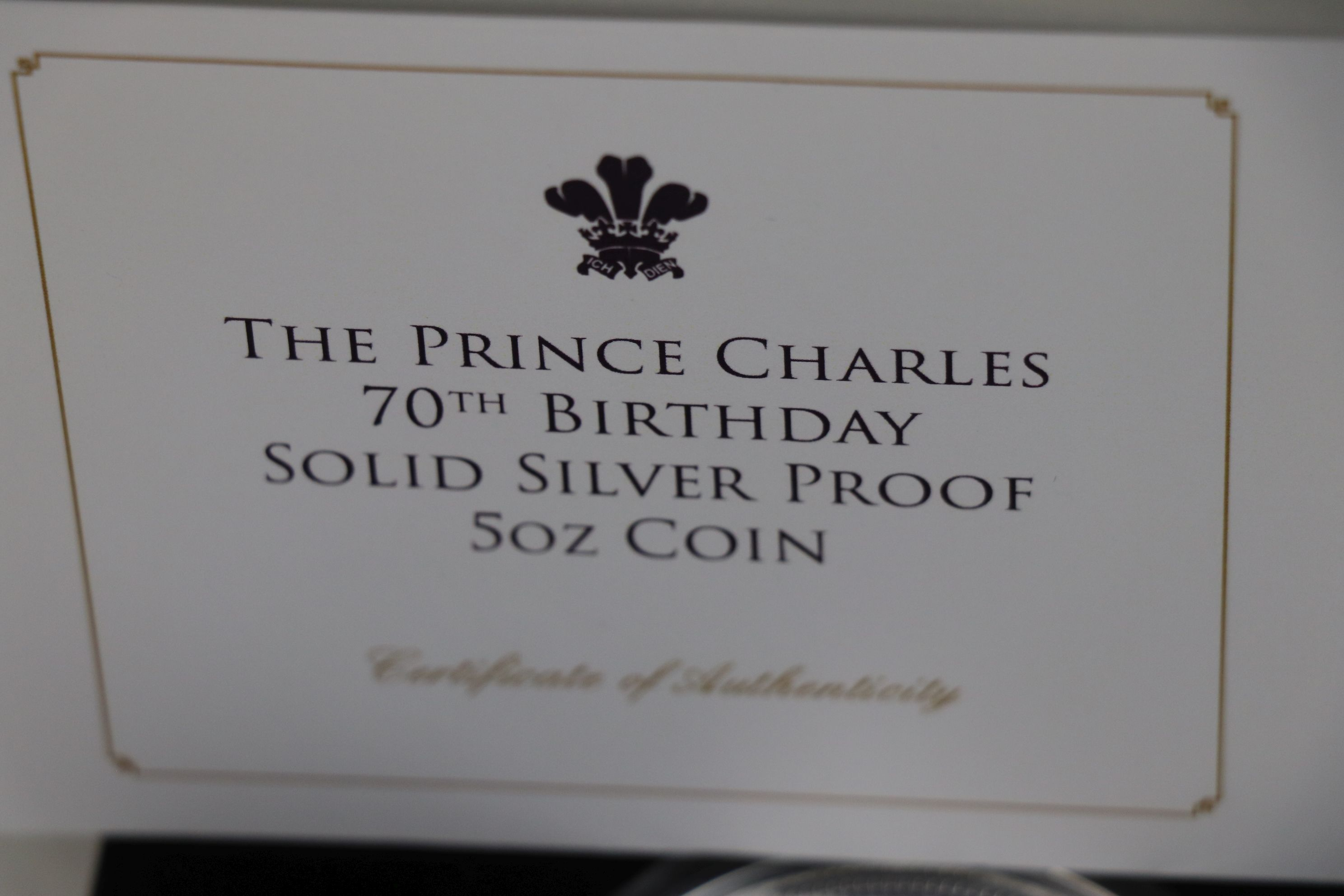 A Jubilee Mint limited edition fine silver £25 Prince Charles 70th Birthday solid silver proof 5 - Image 4 of 4