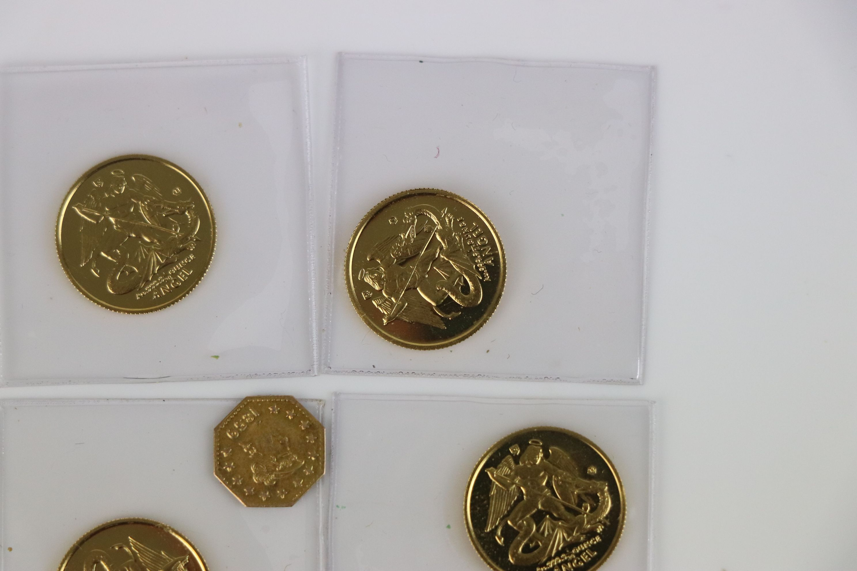 A small collection of British gold coins to include California gold rush 1/4 dollar and an Isle of - Image 3 of 6