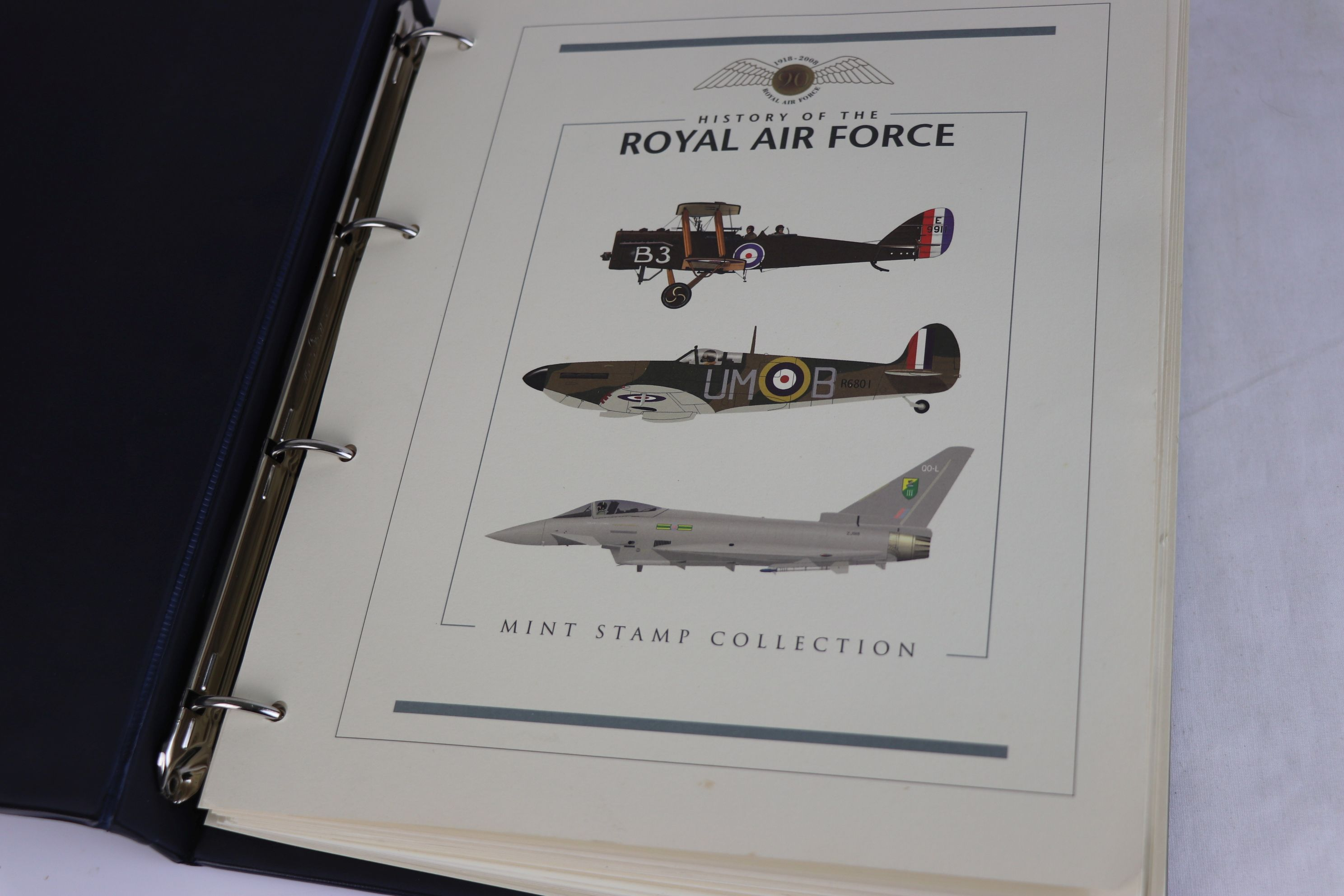 A limited edition Westminster Mint History of the Royal Air Force coin and stamp cover collection to - Image 2 of 16