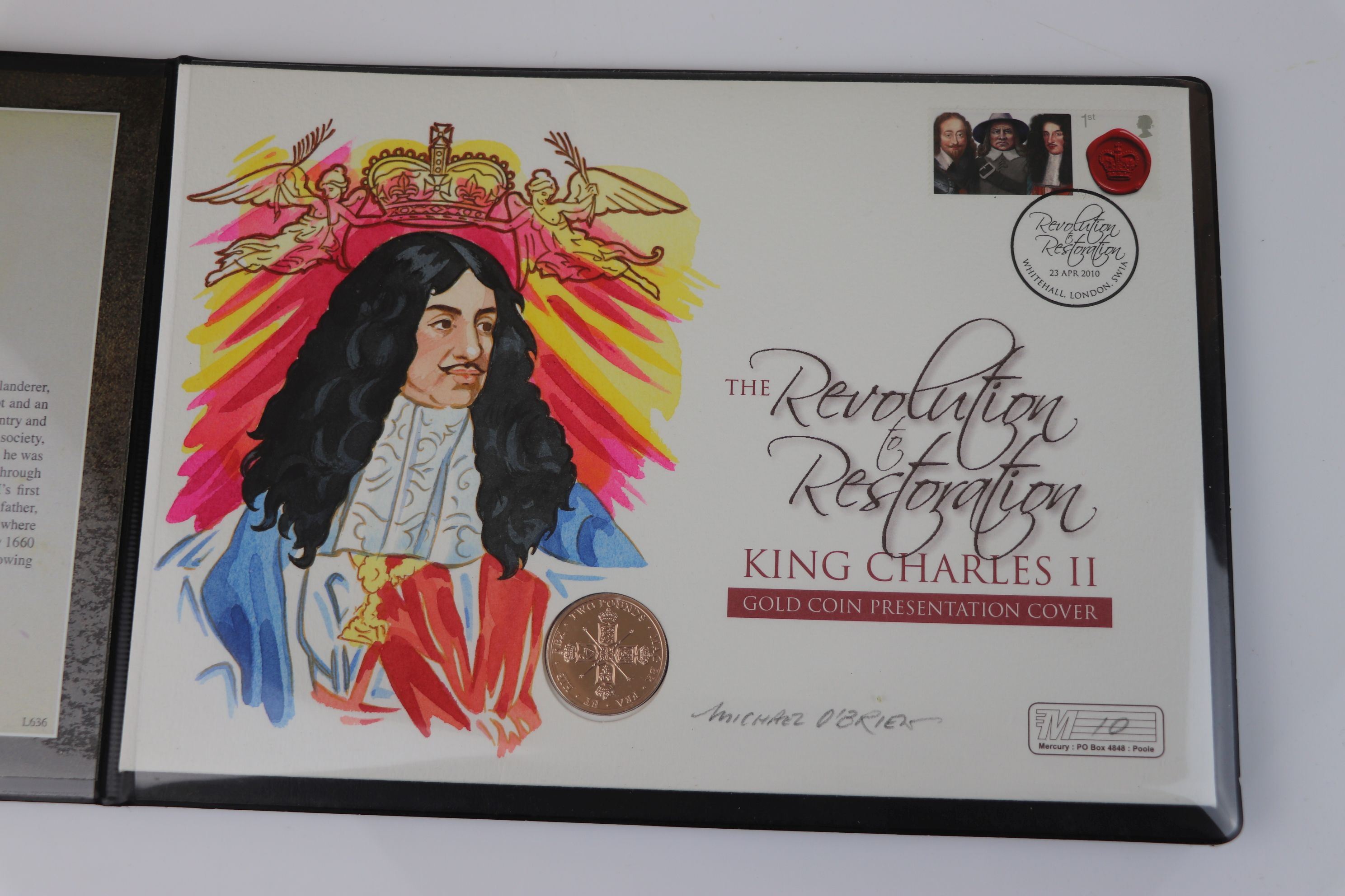 A Westminster Mint limited edition 2010 gold £2 coin King Charles II Revolution of Restoration - Image 2 of 6