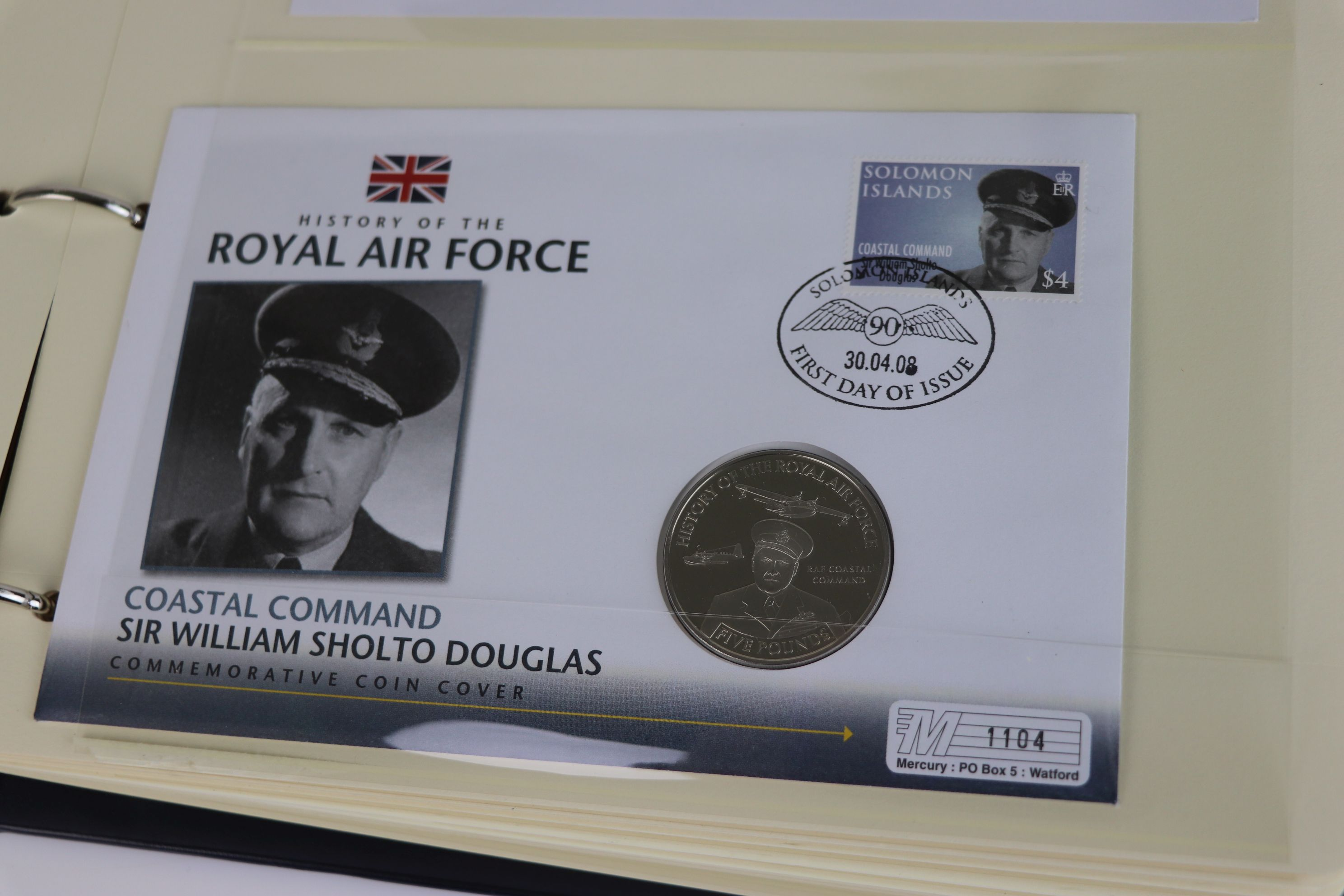A limited edition Westminster Mint History of the Royal Air Force coin and stamp cover collection to - Image 7 of 16