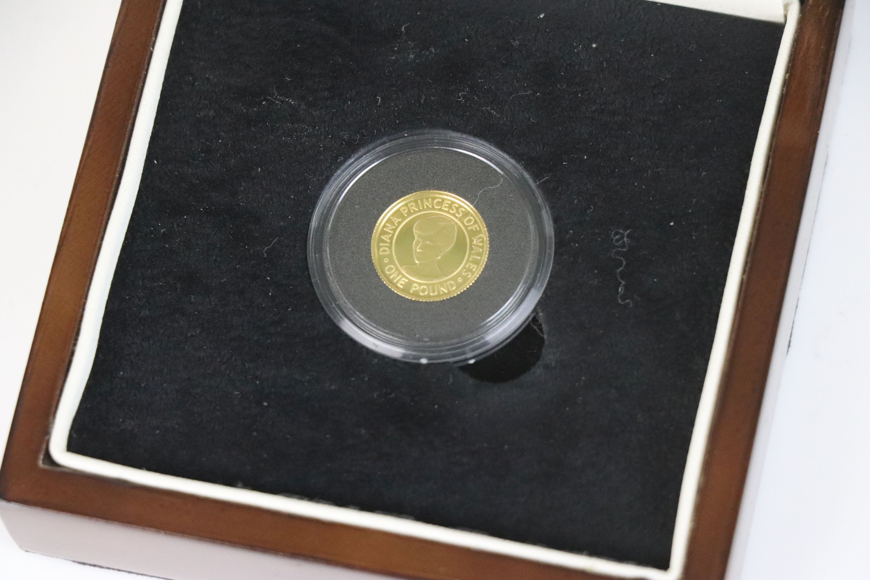 A Queen Elizabeth II Bailiwick of Jersey Diana Princess of Wales Commemorative £1 gold coin dated - Image 2 of 4