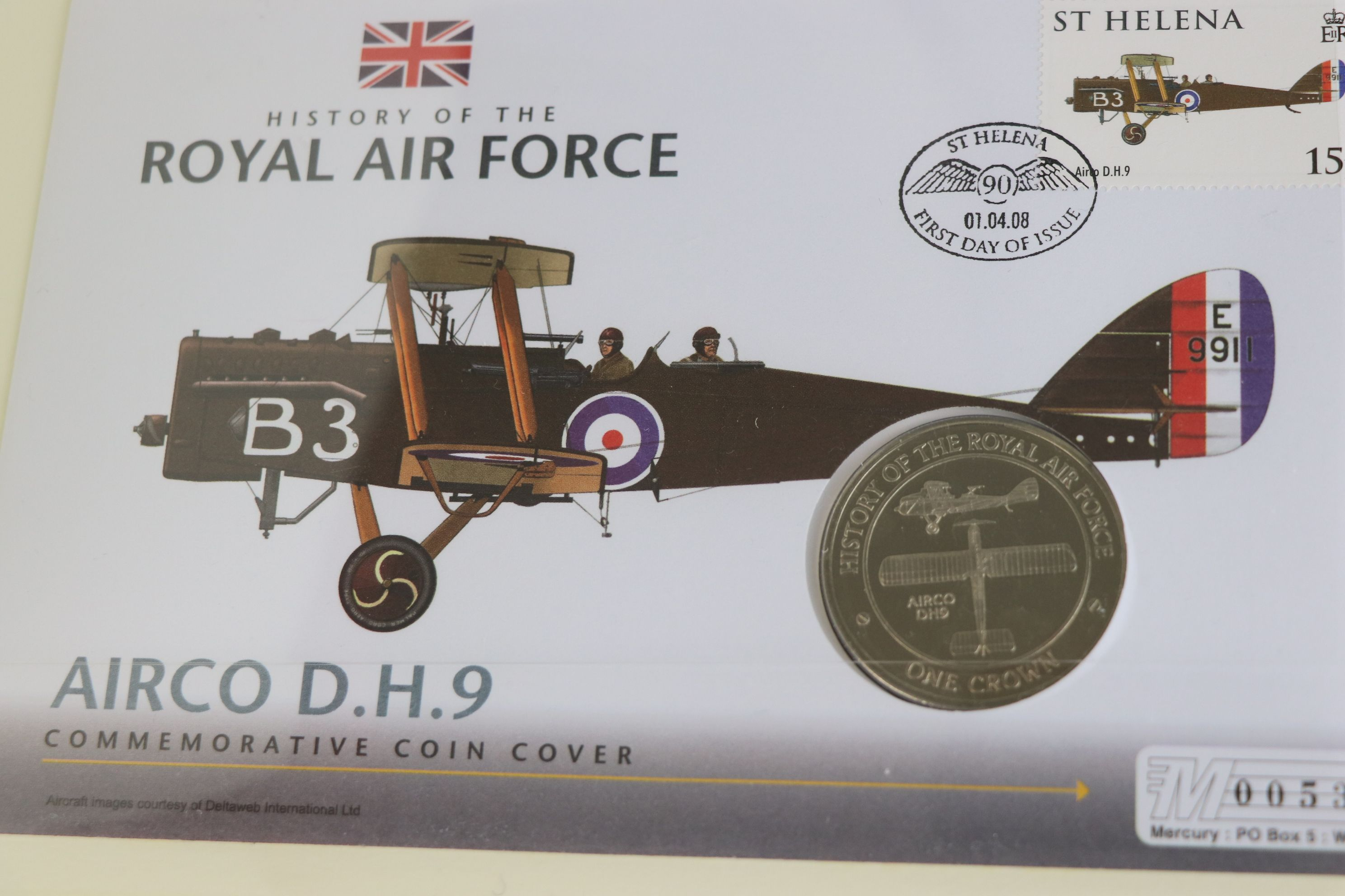 A limited edition Westminster Mint History of the Royal Air Force coin and stamp cover collection to - Image 14 of 16