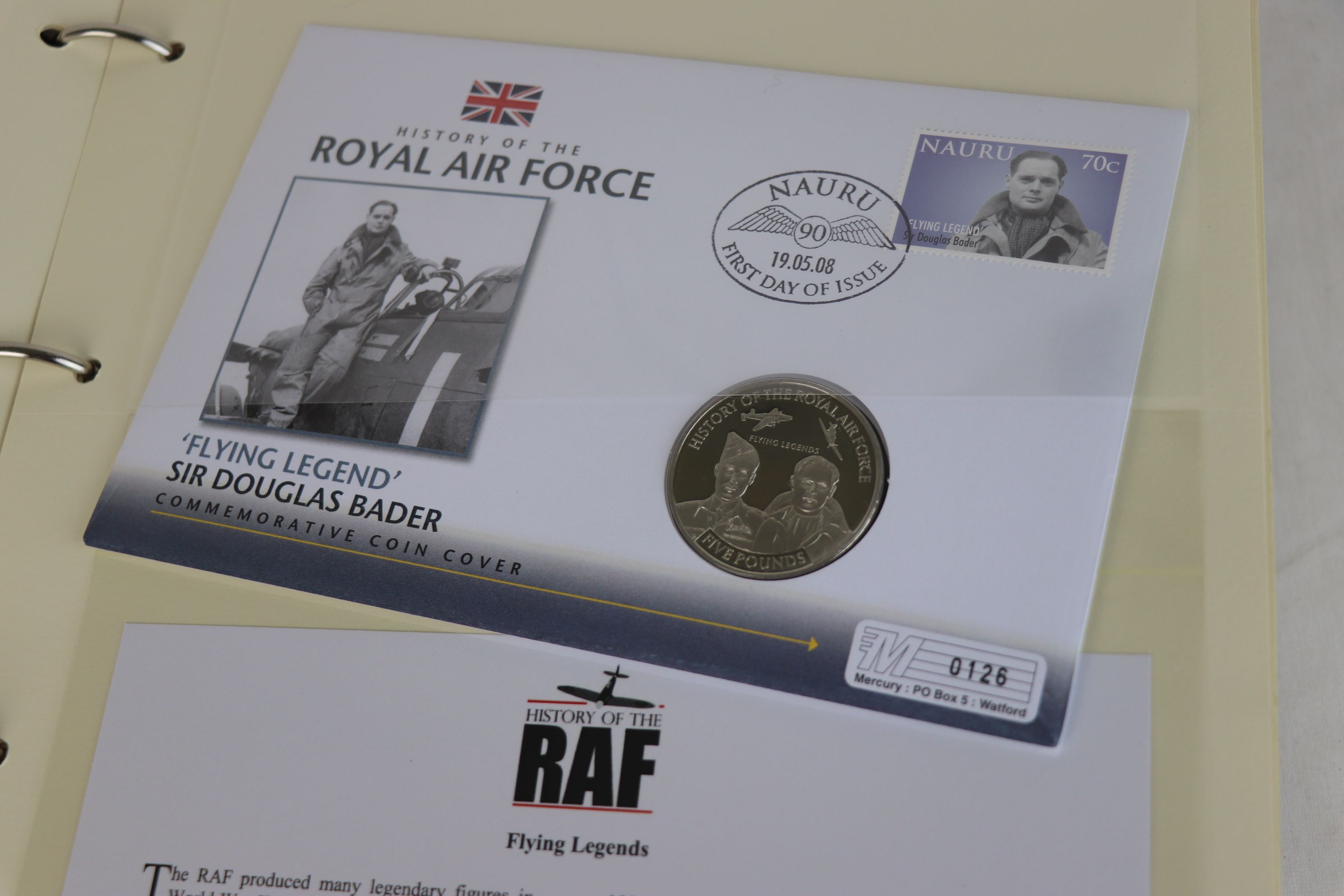 A limited edition Westminster Mint History of the Royal Air Force coin and stamp cover collection to - Image 4 of 16