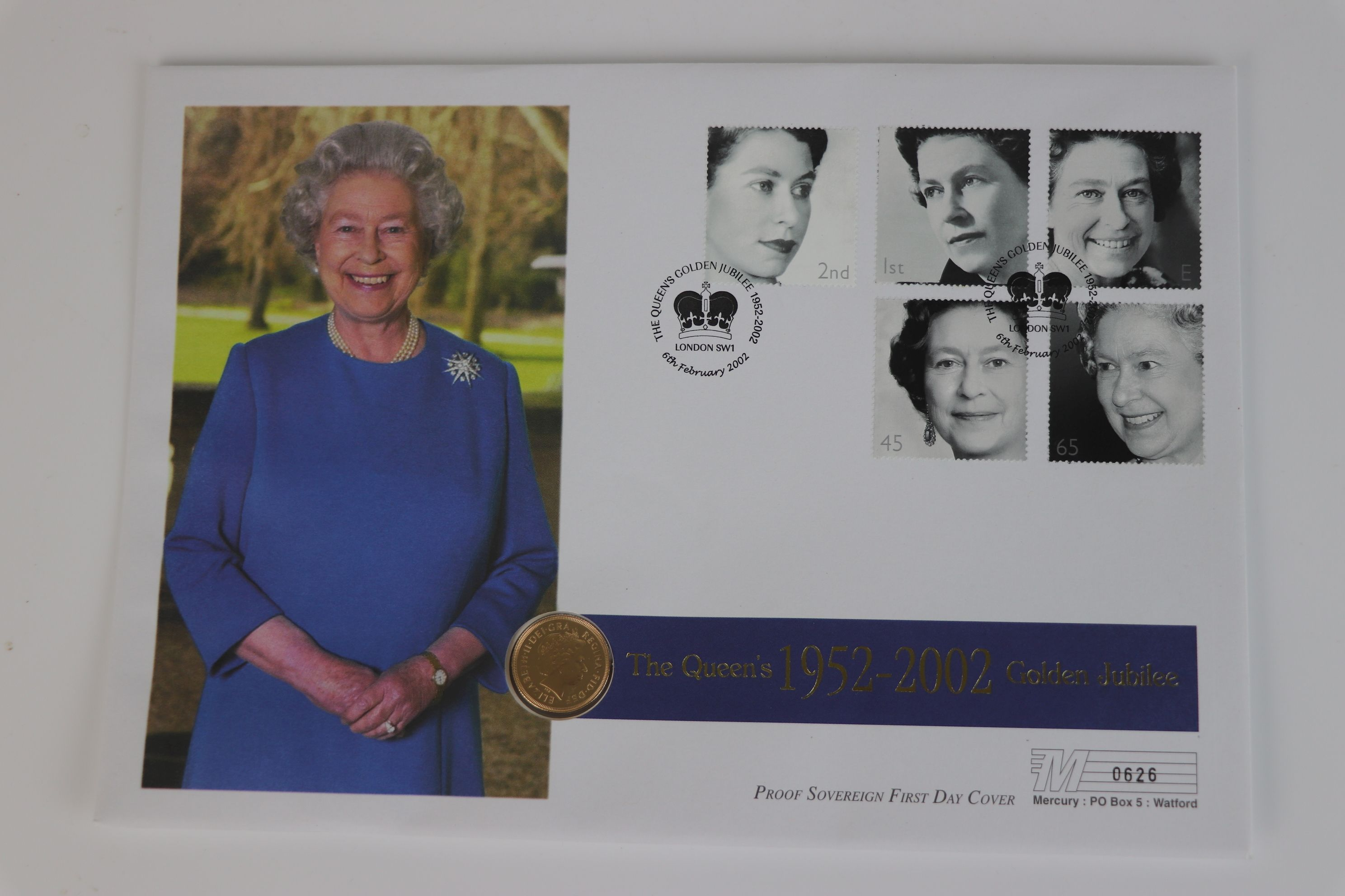 A 2002 Great Britain gold proof Sovereign coin cover. - Image 2 of 4