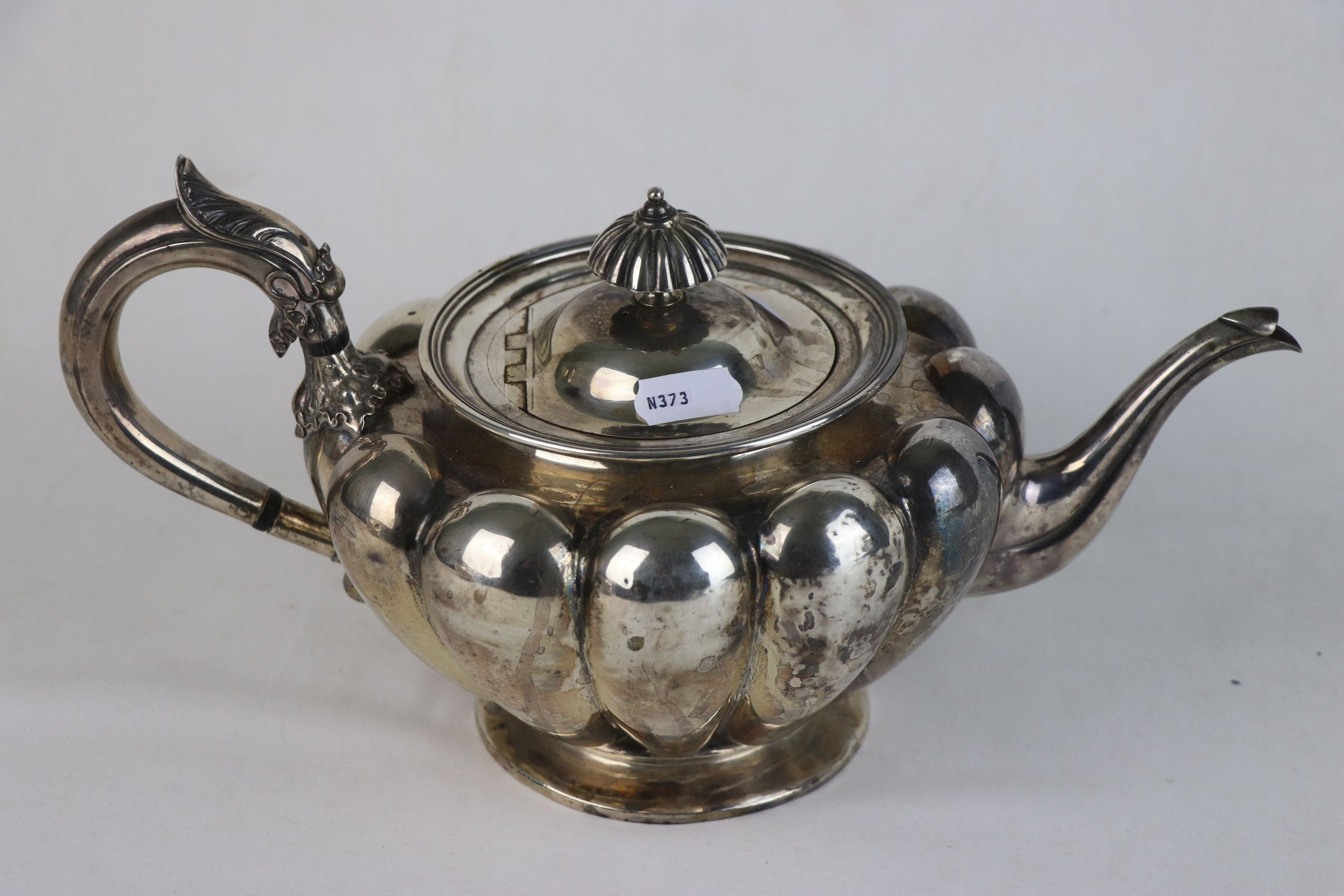 A fully hallmarked Victorian sterling silver Tea pot, maker marked for John Tapley, assayed in