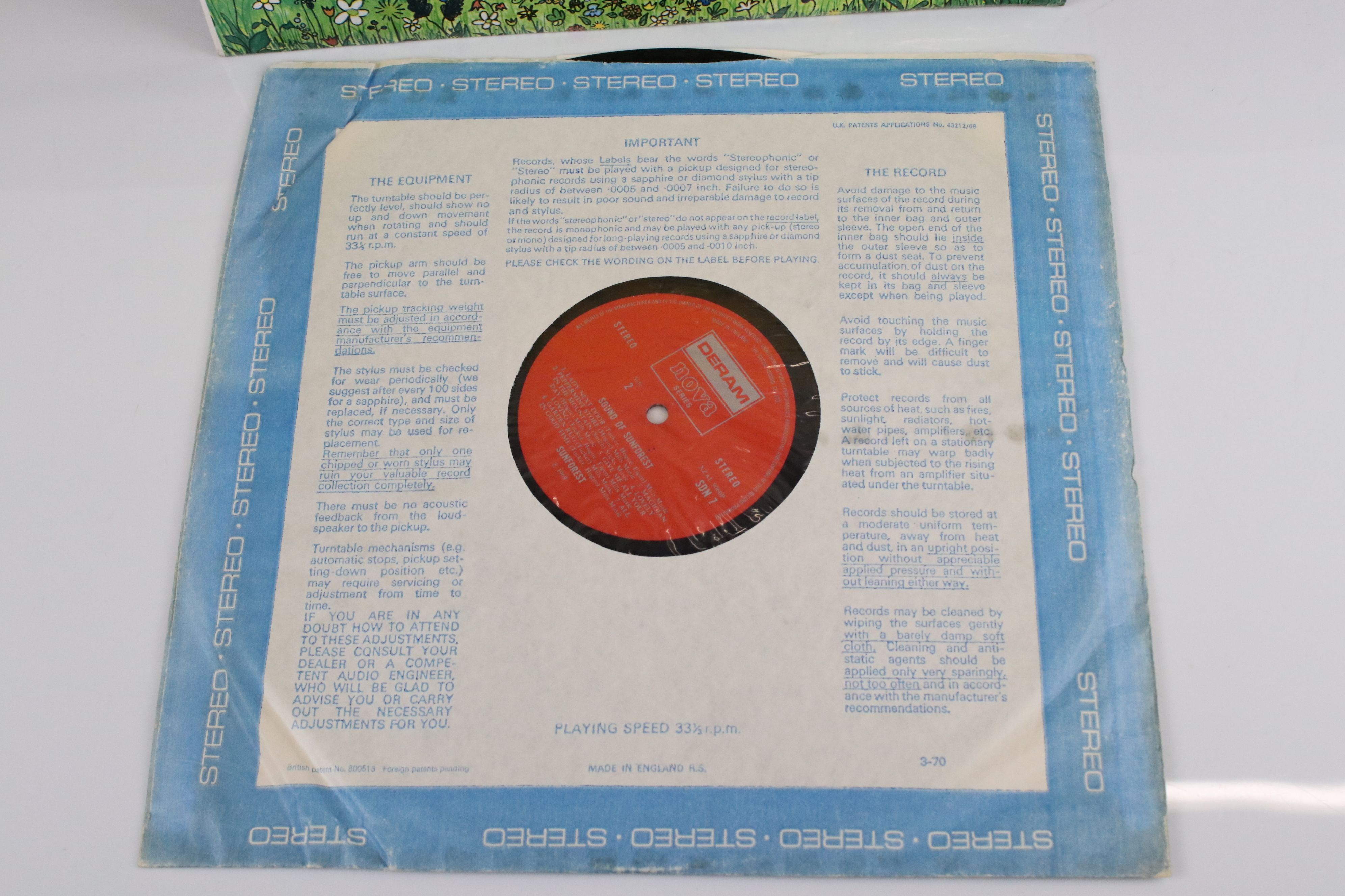 Vinyl - Sunforest Sound of Sunforest LP on Deram / Nova SDNT stereo, red and silver label, laminated - Image 5 of 6