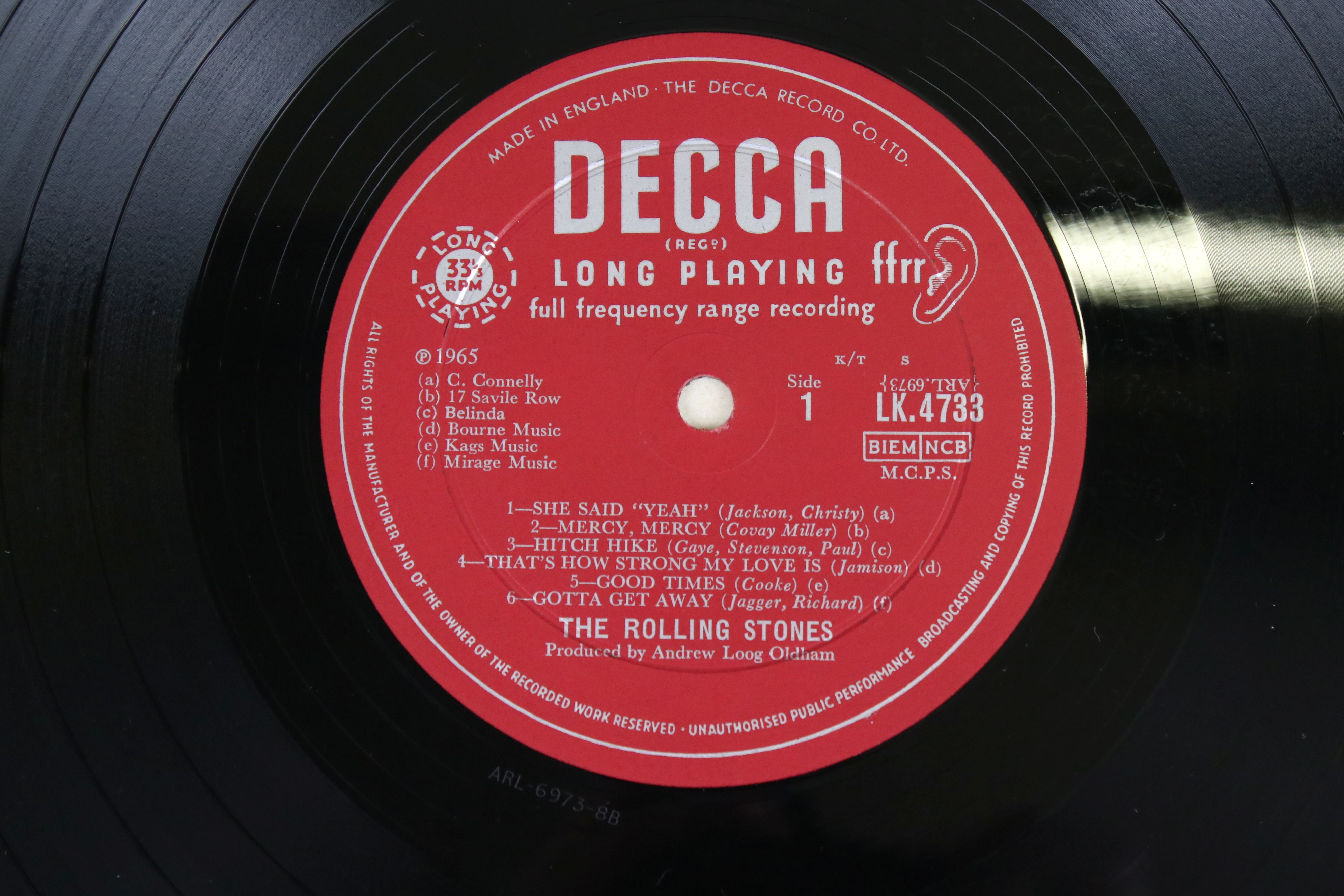 Vinyl - The Rolling Stones Out Of Our Heads (Decca LK 4733) mono, non flipback sleeve by Robert - Image 3 of 4