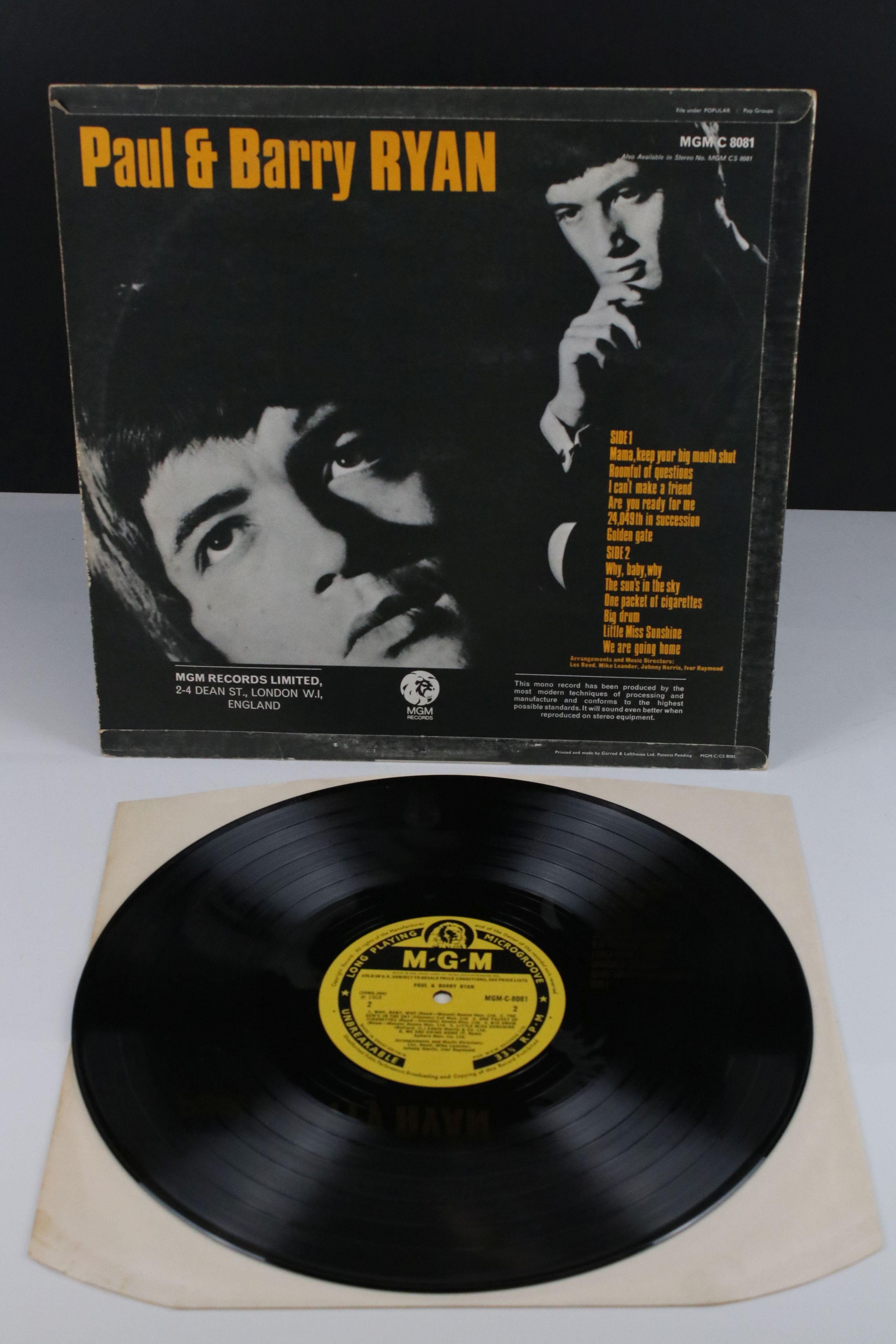 Vinyl - MOD/BEAT Paul & Barry Ryan self titled LP on MGM C 8081, mono non laminated, flip back - Image 2 of 5