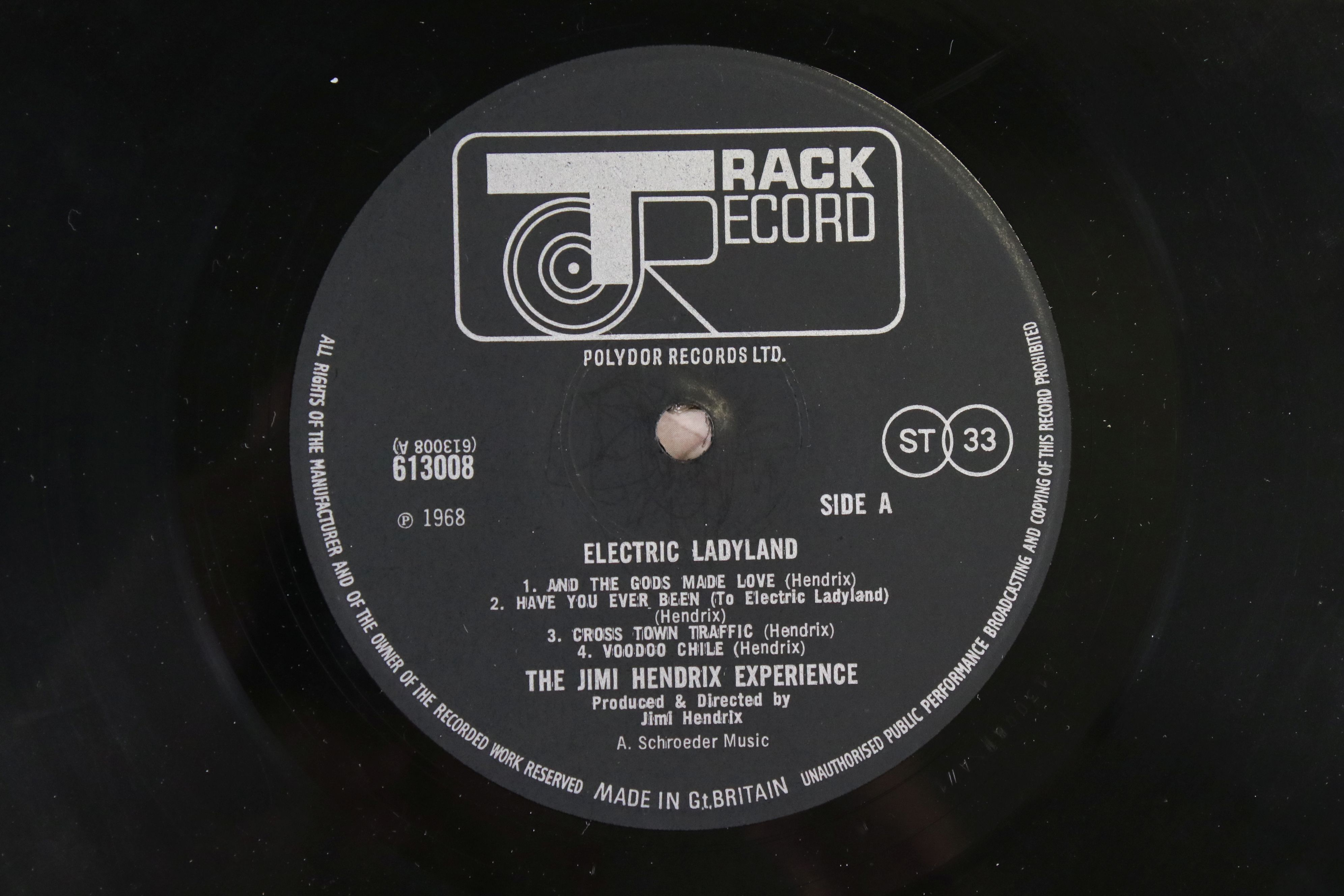 Vinyl - Jimi Hendrix Electric Ladyland on Track 61300819 blue text, Jimi to the right when - Image 3 of 9