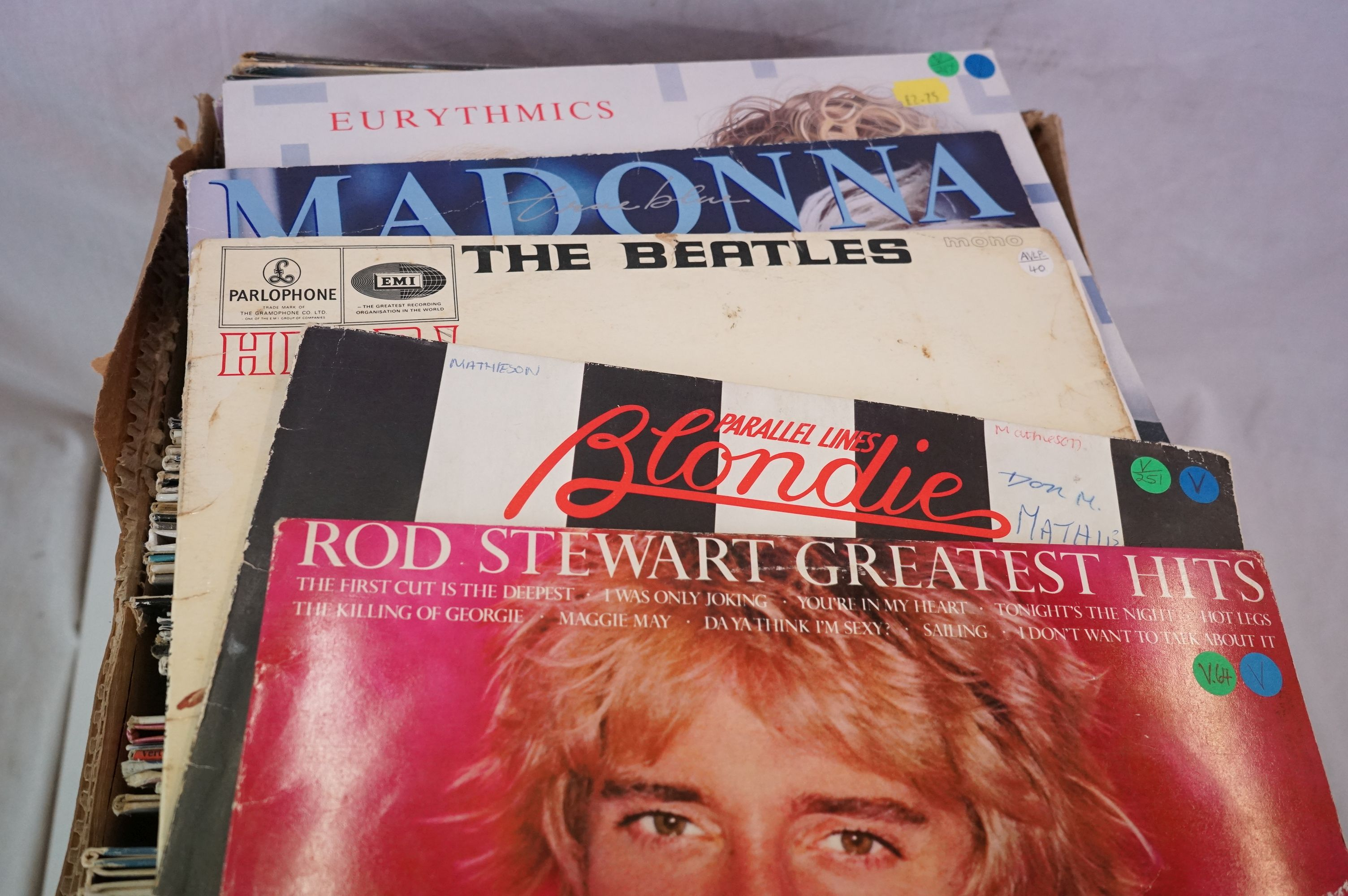 """Vinyl - Around 80 LPs and 12"""" single (mainly LPs) featuring Rock and Pop to include Blondie, Bon - Image 5 of 6"""
