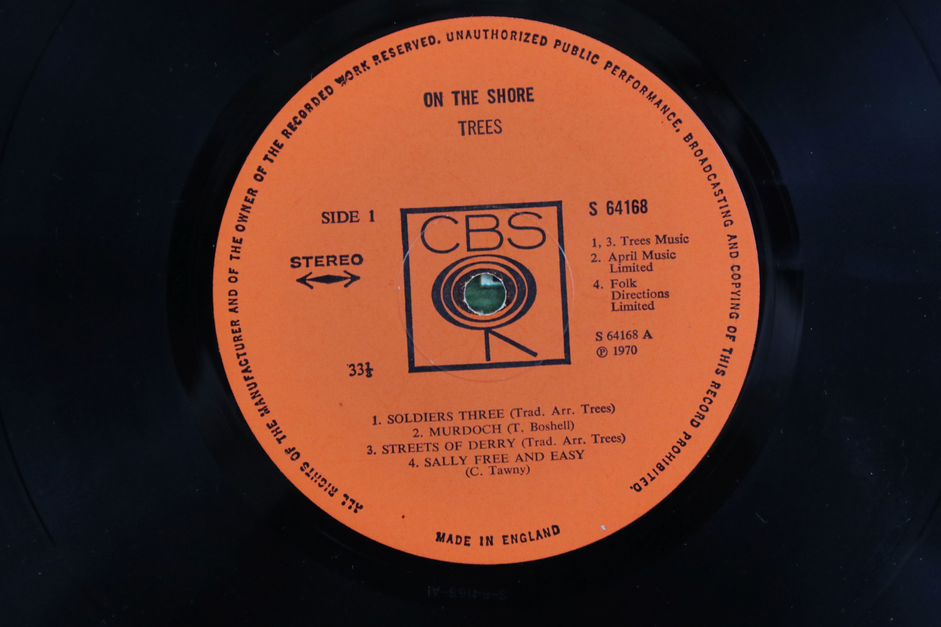 Vinyl - Trees On The Shore LP on CBS 64168 Stereo, vg+ - Image 3 of 4