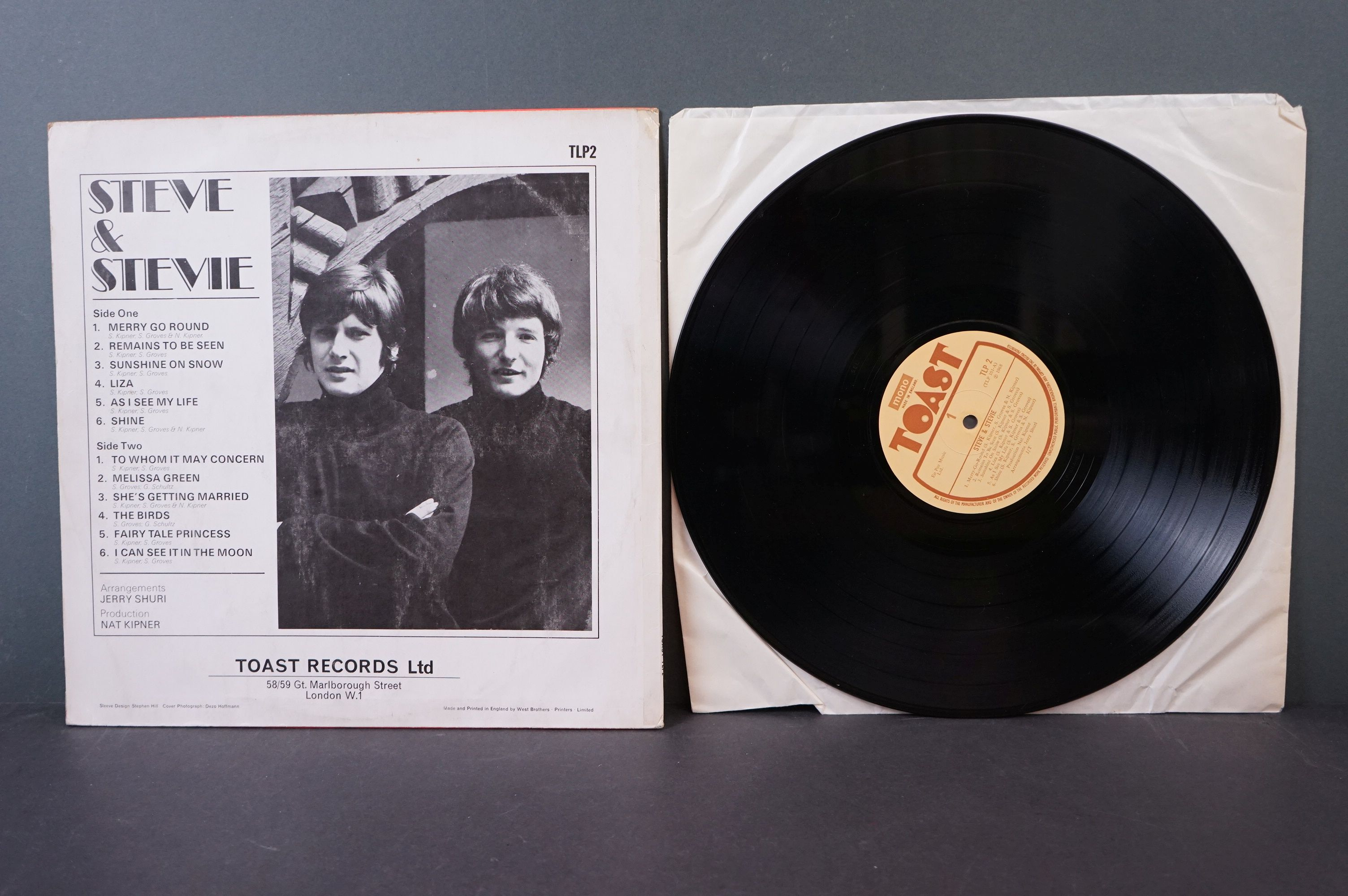 Vinyl - Psych - Two scarce original UK pressing Psych albums to include Steve & Stevie - Steve & - Image 3 of 5