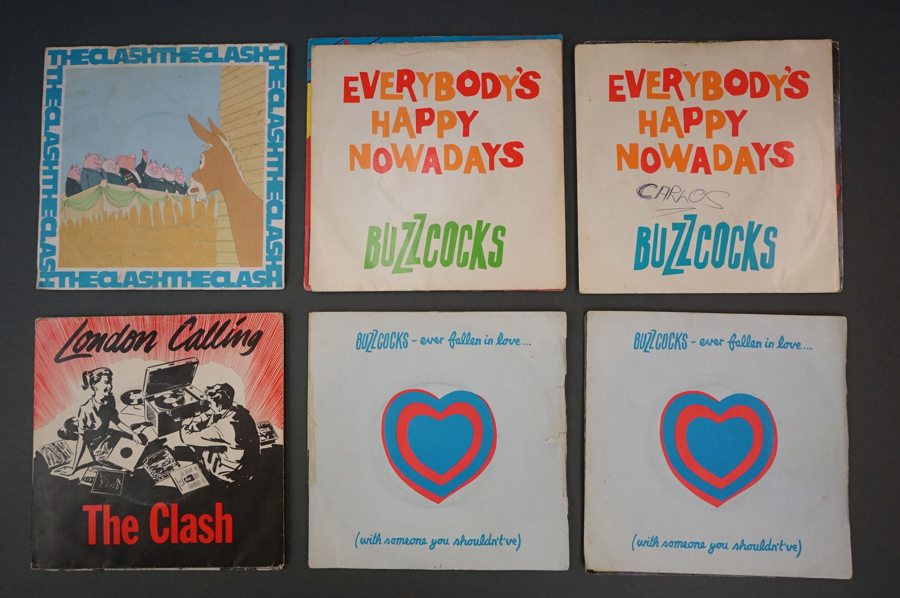 Vinyl - Approx 39 first generation punk singles including The Clash x 8, The Buzzcocks x 7, - Image 3 of 8