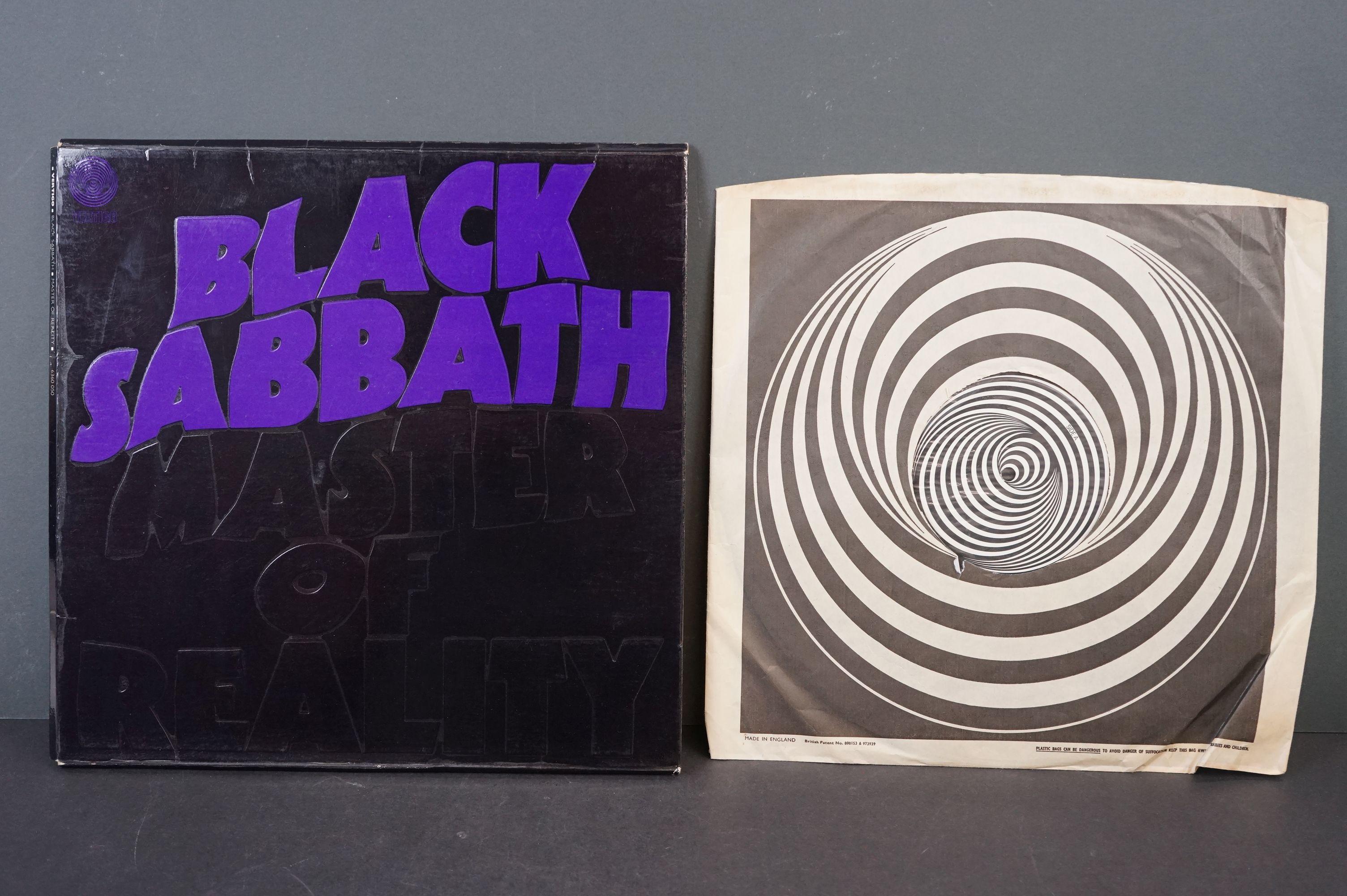 Vinyl - Black Sabbath - Master Of Reality. Original UK 1971 1st Black label, Swirl Vertigo label - Image 2 of 5