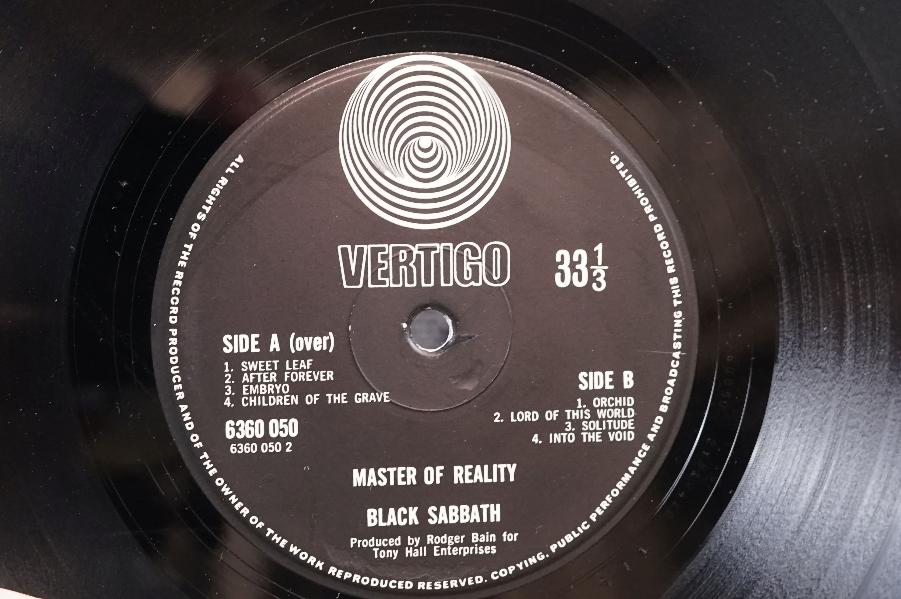 Vinyl - Black Sabbath - Master Of Reality. Original UK 1971 1st Black label, Swirl Vertigo label - Image 5 of 5