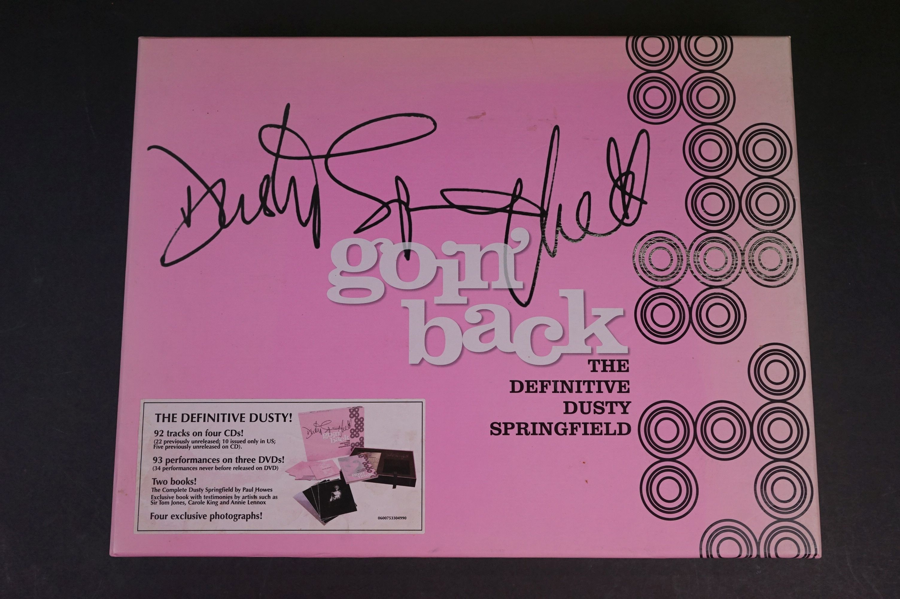 CD / DVD - Dusty Springfield Goin' Back The Definitive Box Set, ltd edn number 00128, ex with some