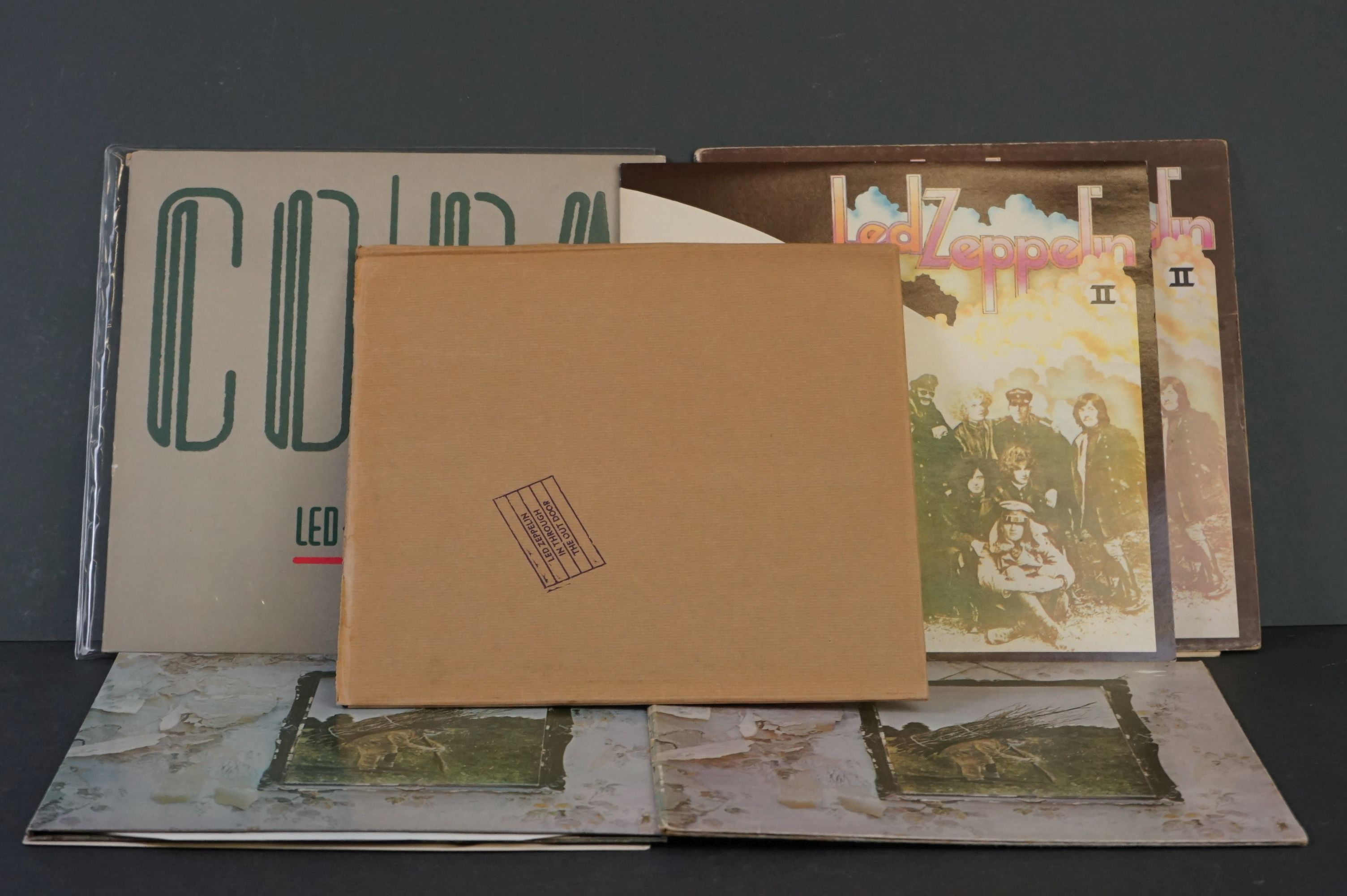 Vinyl - Six Led Zeppelin LPs to include In Through the Outdoor (cover D) SSK59410, Coda 790051, 2