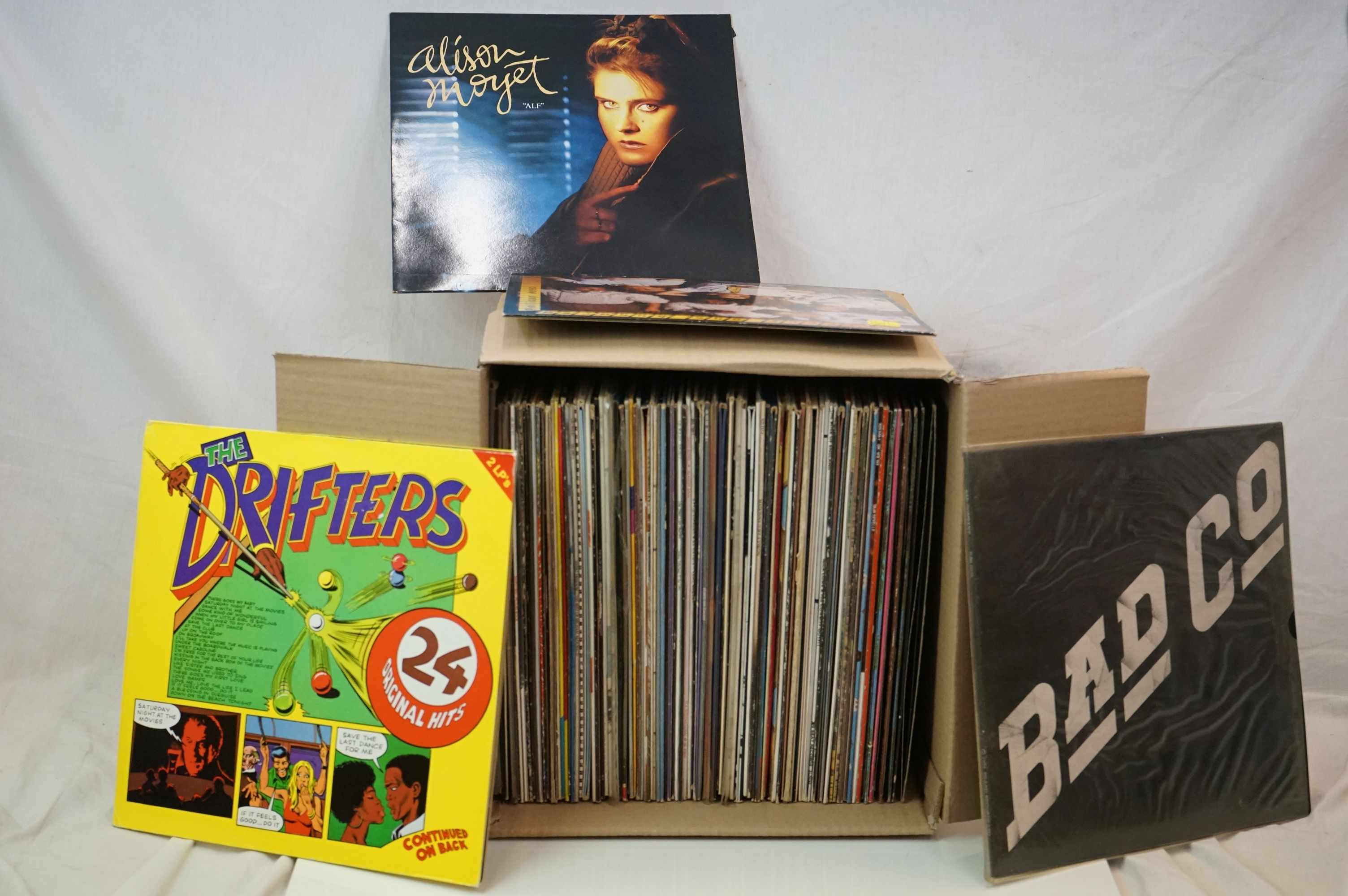 """Vinyl - Rock & Pop collection of over 60 LP's plus some 12"""" singles including Elvis Costello, Rickie"""