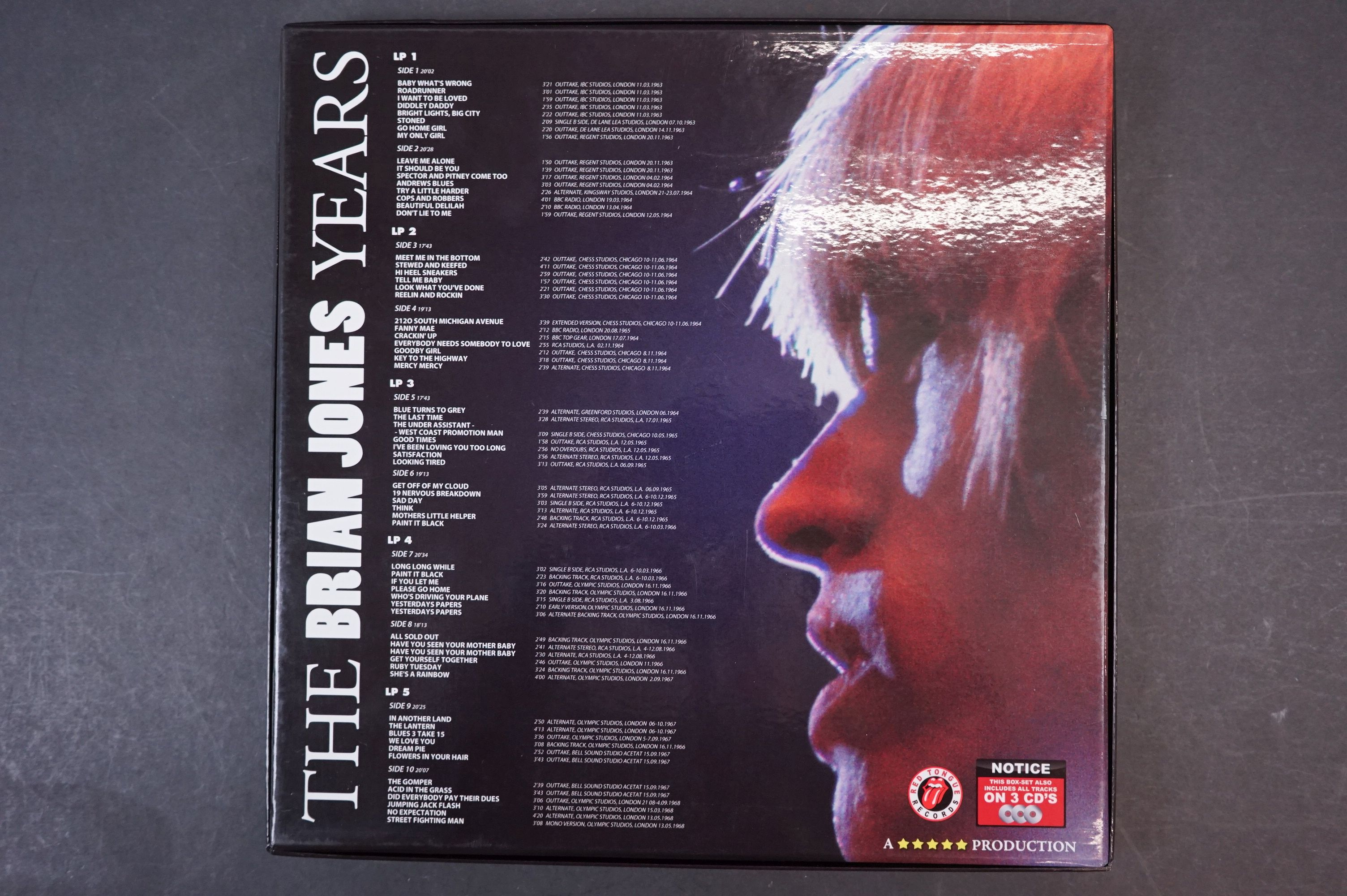 Vinyl - ltd edn The Rolling Stones The Brian Jones Years 5 LP / 3 CD Box Set RTR019, heavy - Image 10 of 12